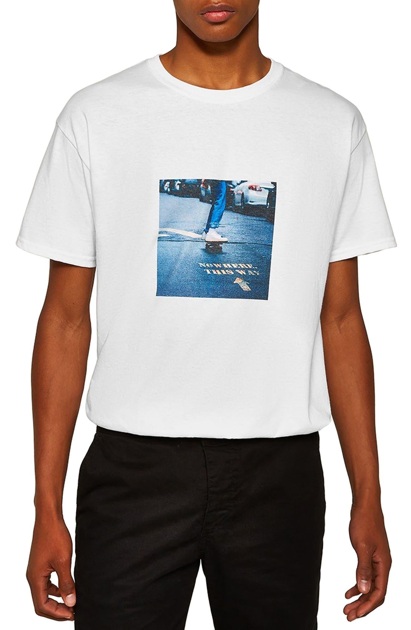 Skater Classic T-Shirt,                             Main thumbnail 1, color,                             WHITE MULTI