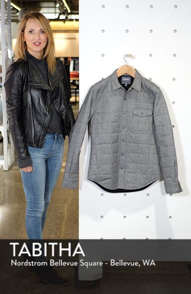 Quilted Herringbone Shirt Jacket, sales video thumbnail