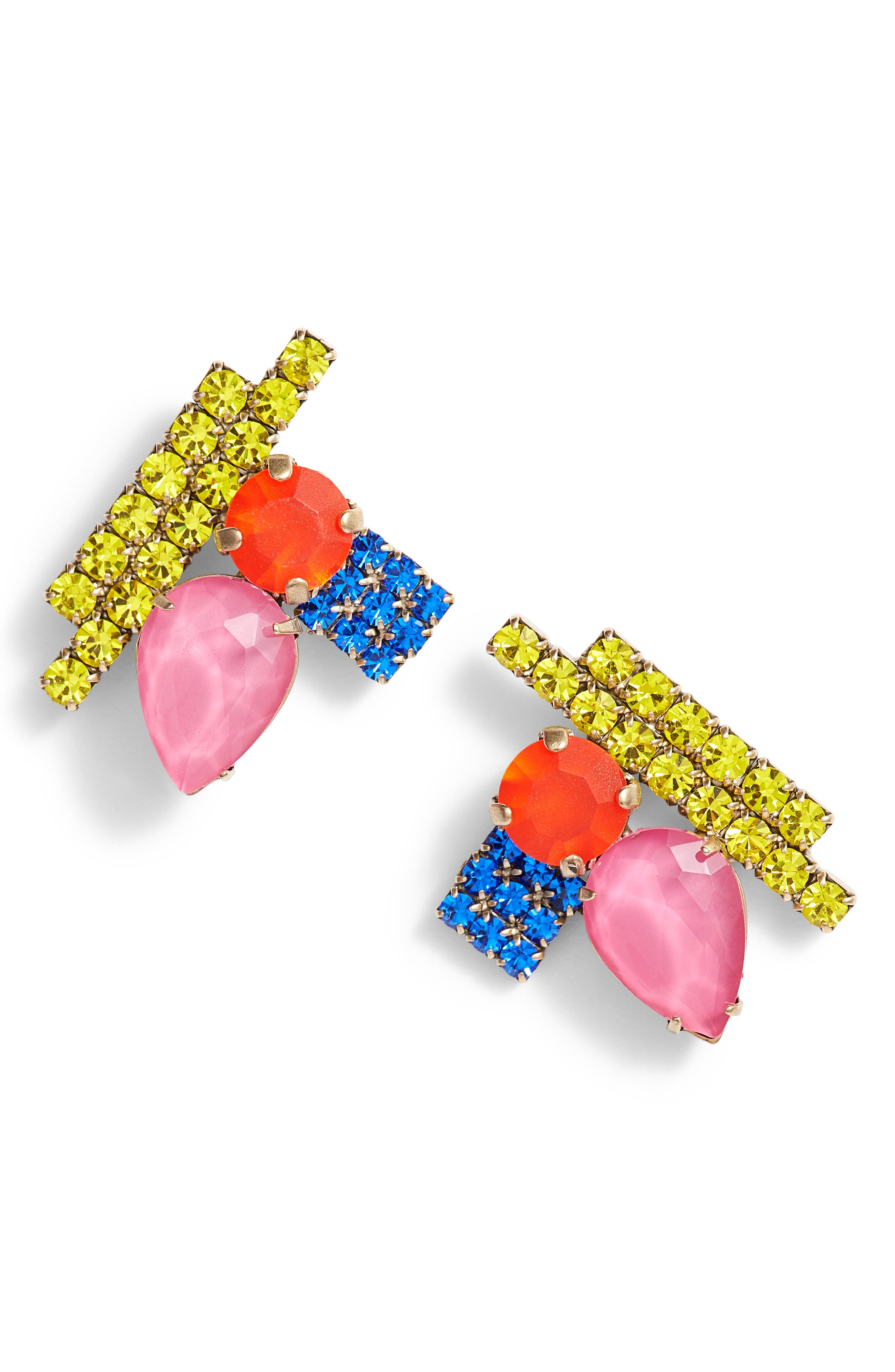 Avery Stud Earrings,                         Main,                         color, GOLD MULTI