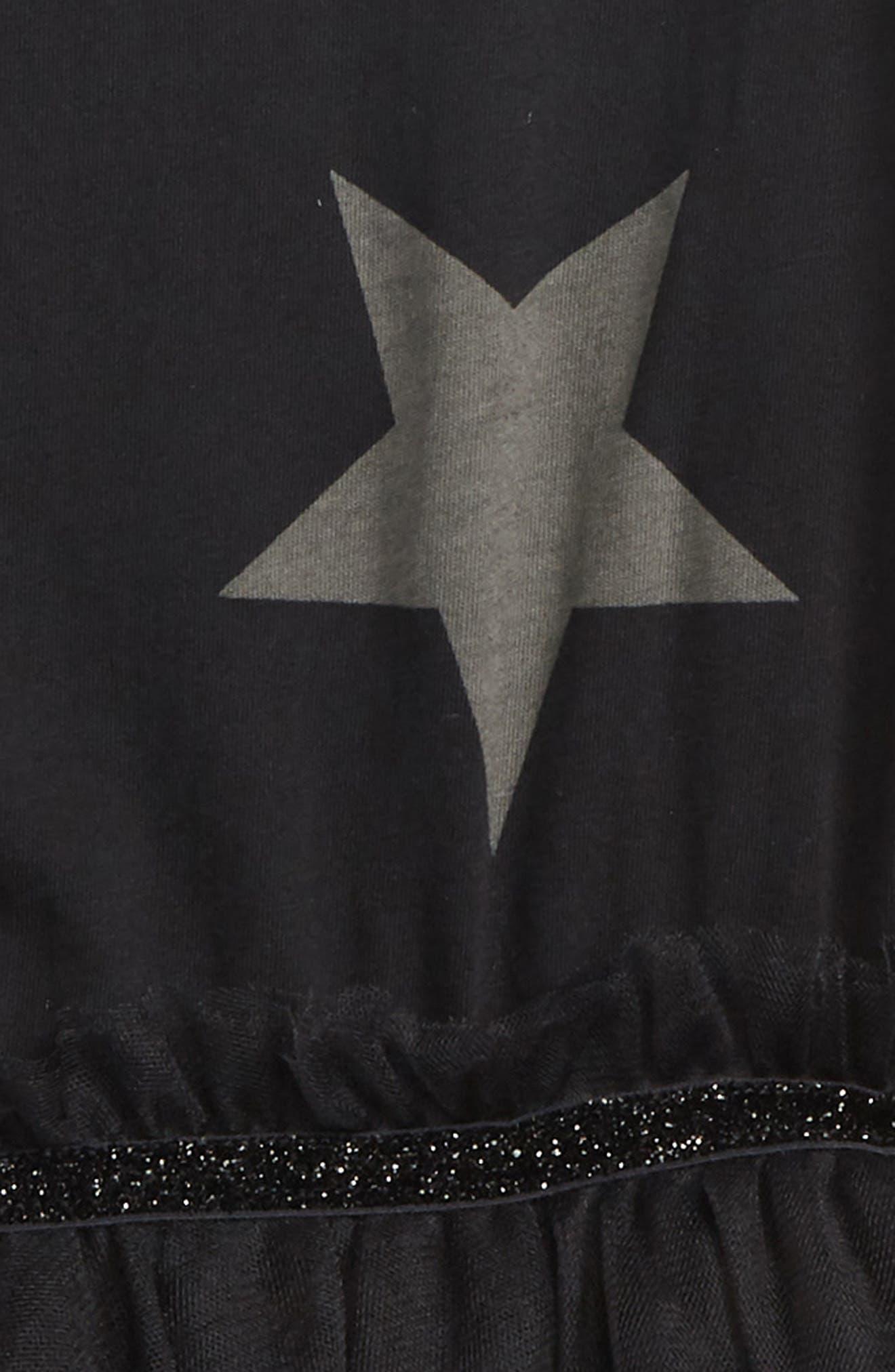 Star Tulle Dress,                             Alternate thumbnail 2, color,                             001
