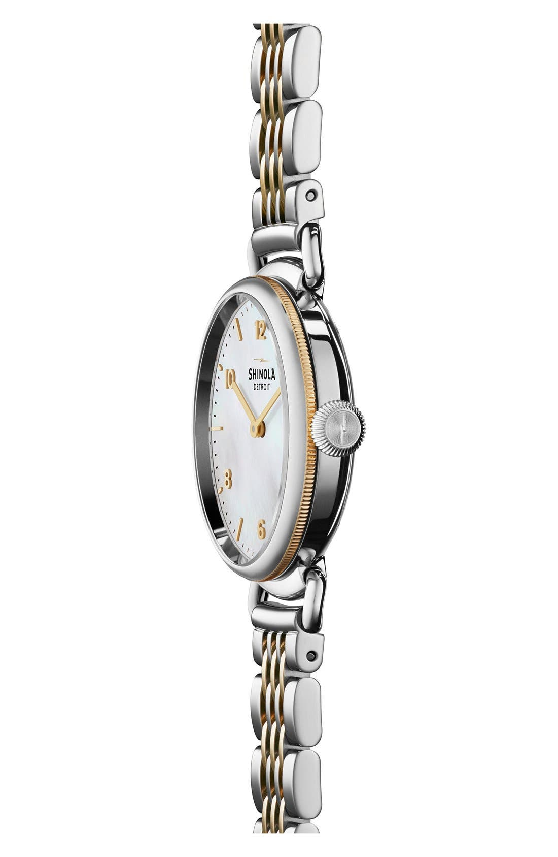 The Canfield Bracelet Watch, 32mm,                             Alternate thumbnail 3, color,                             SILVER/ GOLD