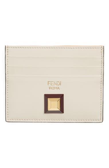 659b93667591 Fendi Rainbow Stud Leather Card Case