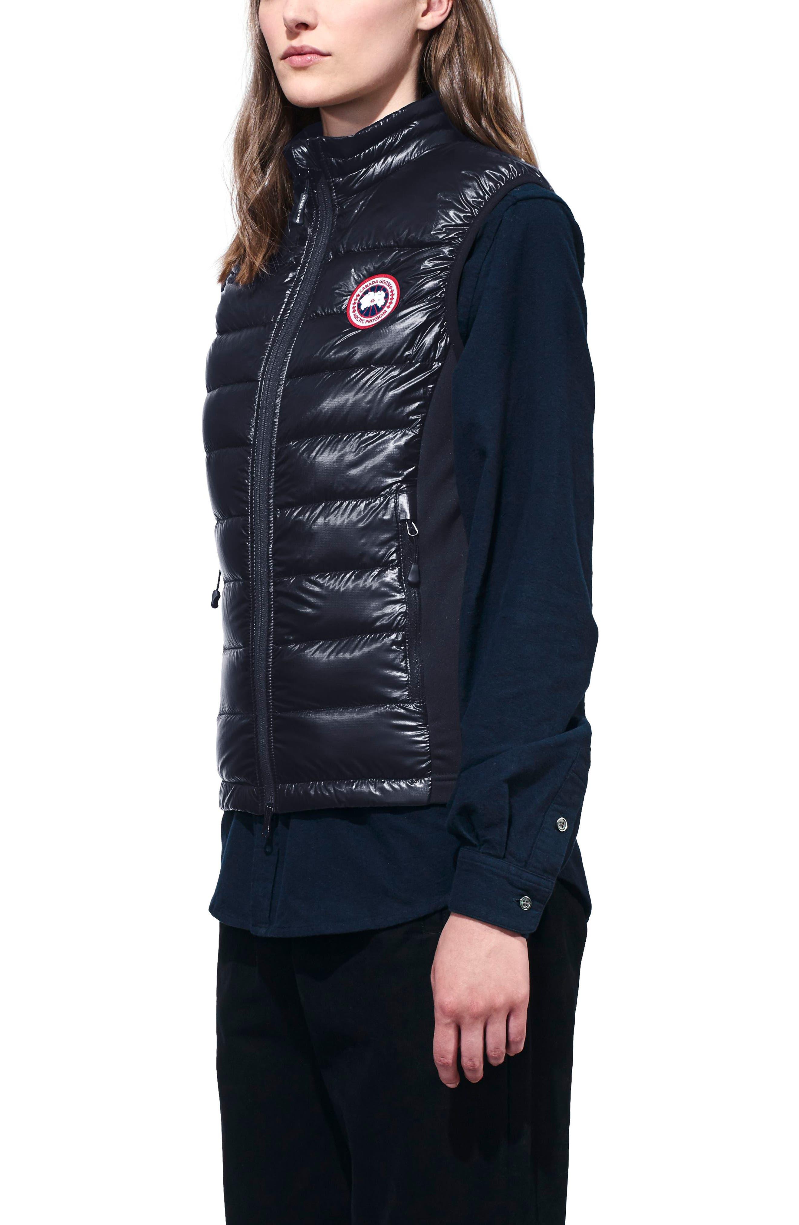 'Hybridge Lite' Slim Fit Packable Down Vest,                             Alternate thumbnail 3, color,                             BLUE/ BLACK