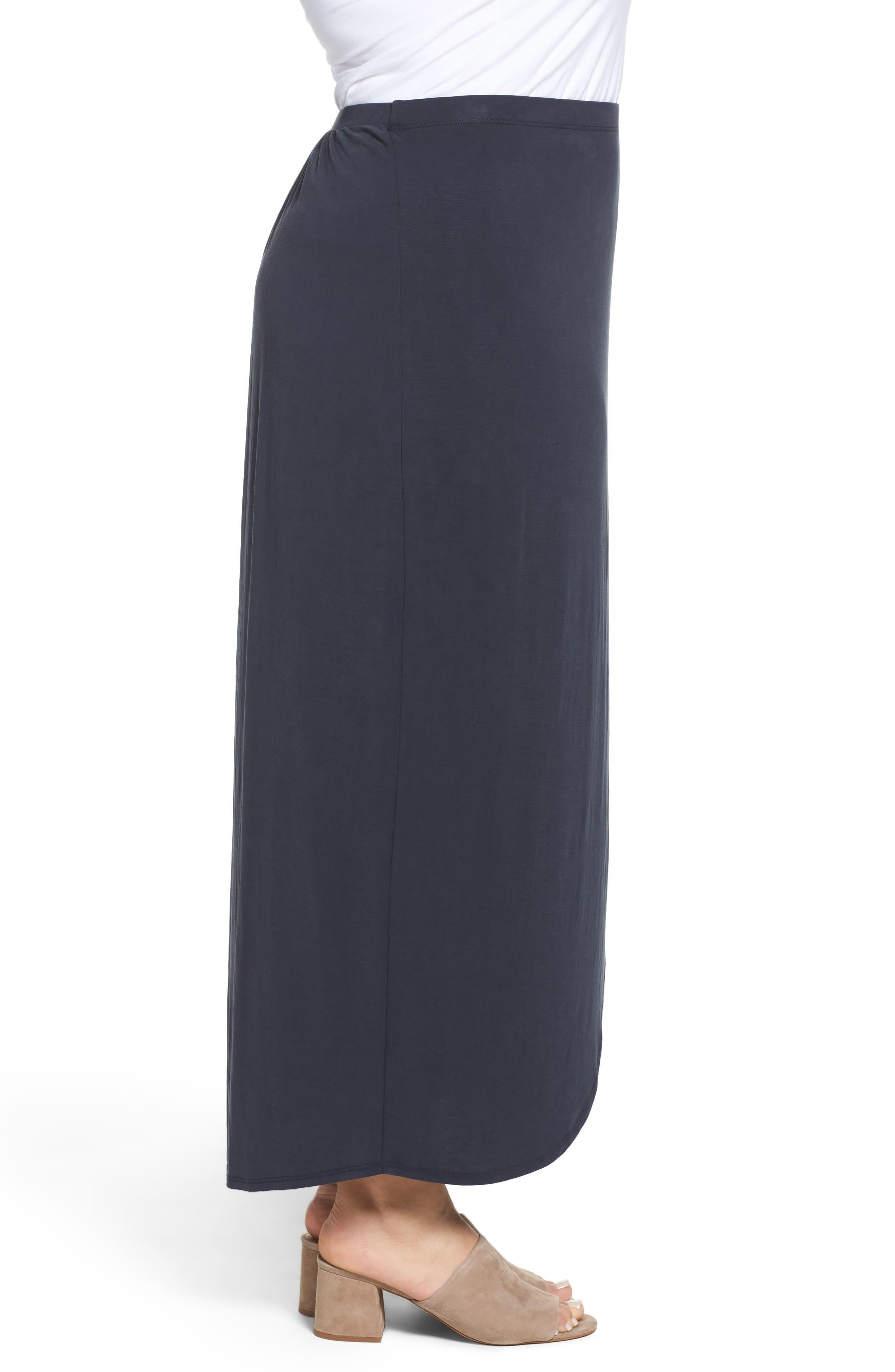 Boardwalk Knit Wrap Maxi Skirt,                             Alternate thumbnail 6, color,