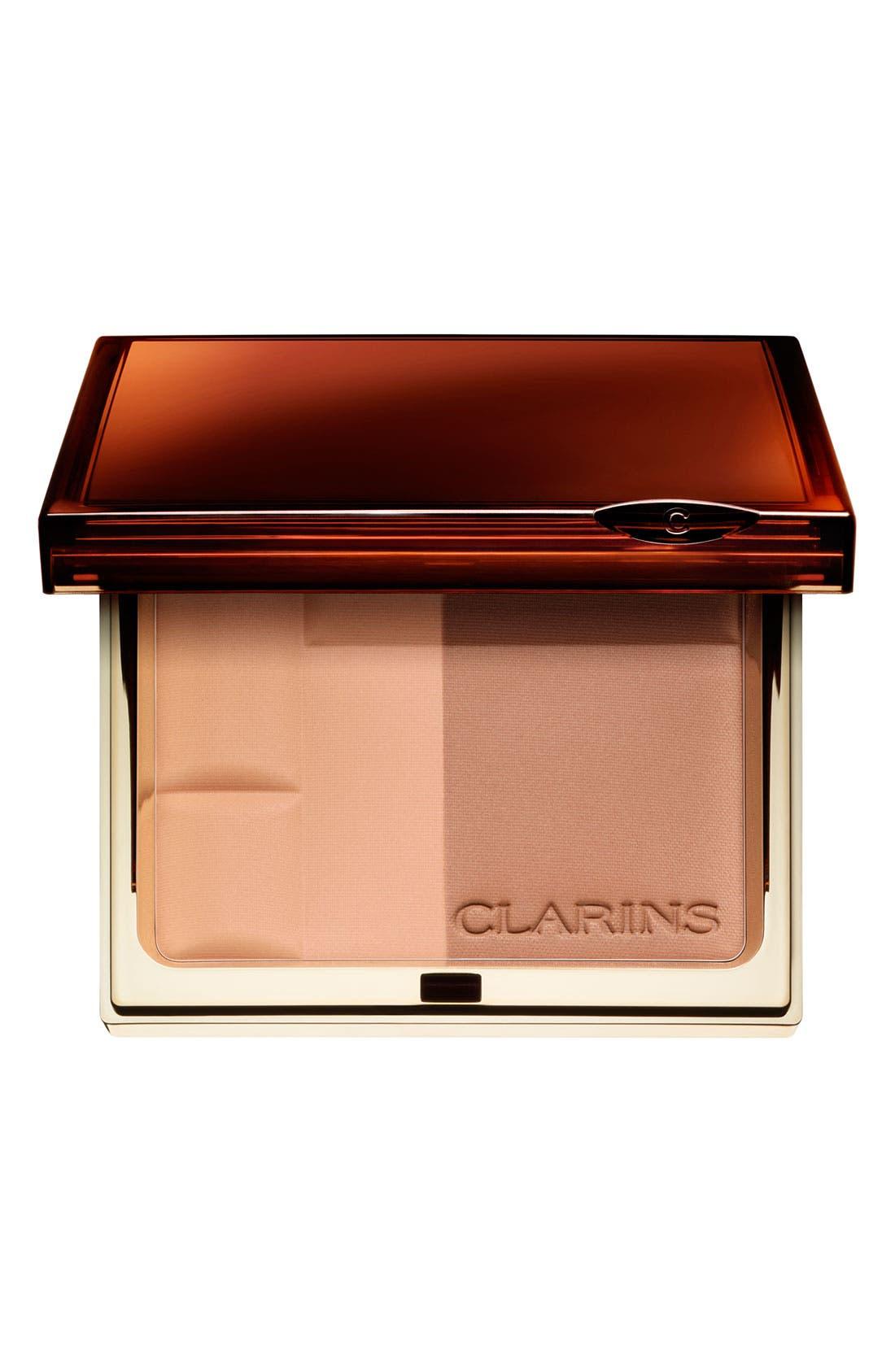 CLARINS,                             Bronzing Powder Duo SPF 15,                             Main thumbnail 1, color,                             LIGHT