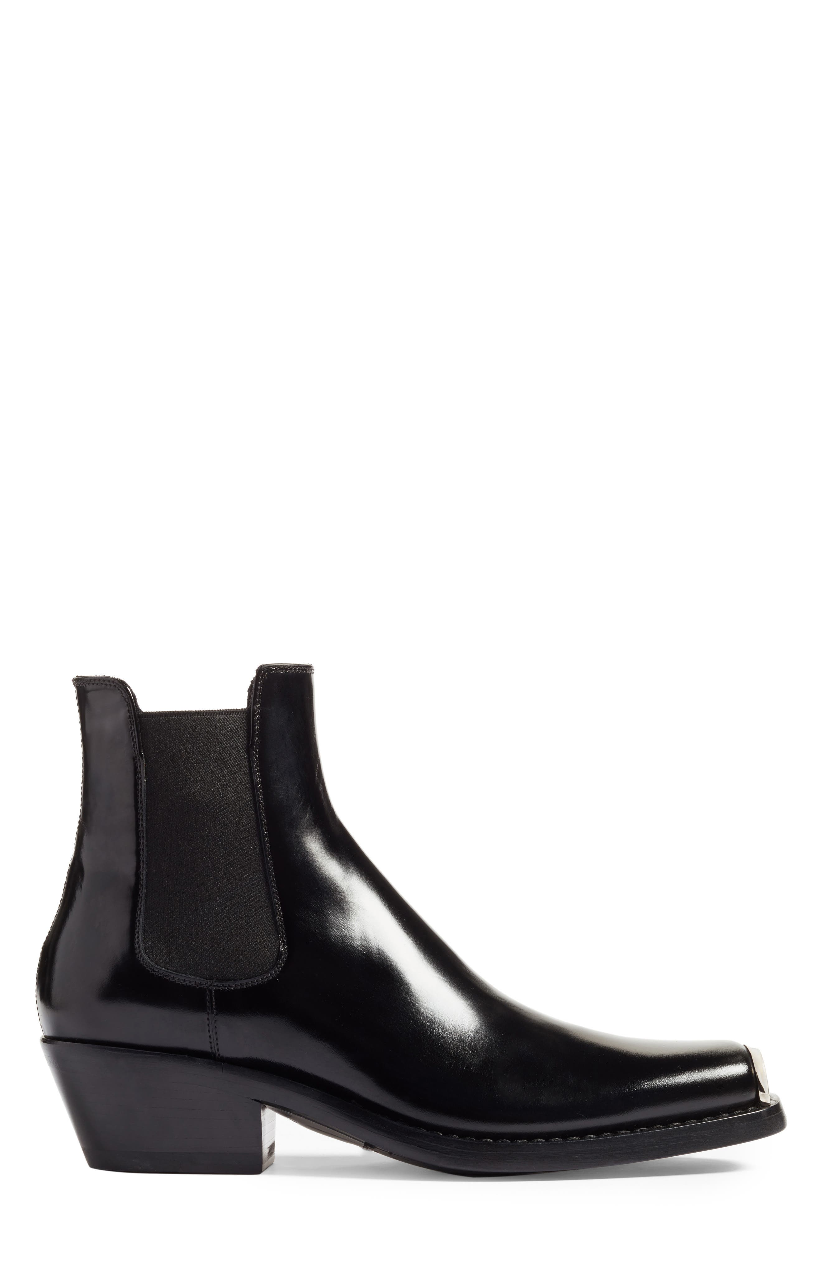 Claire Western Chelsea Boot,                             Alternate thumbnail 3, color,                             BLACK ABRASIVATO