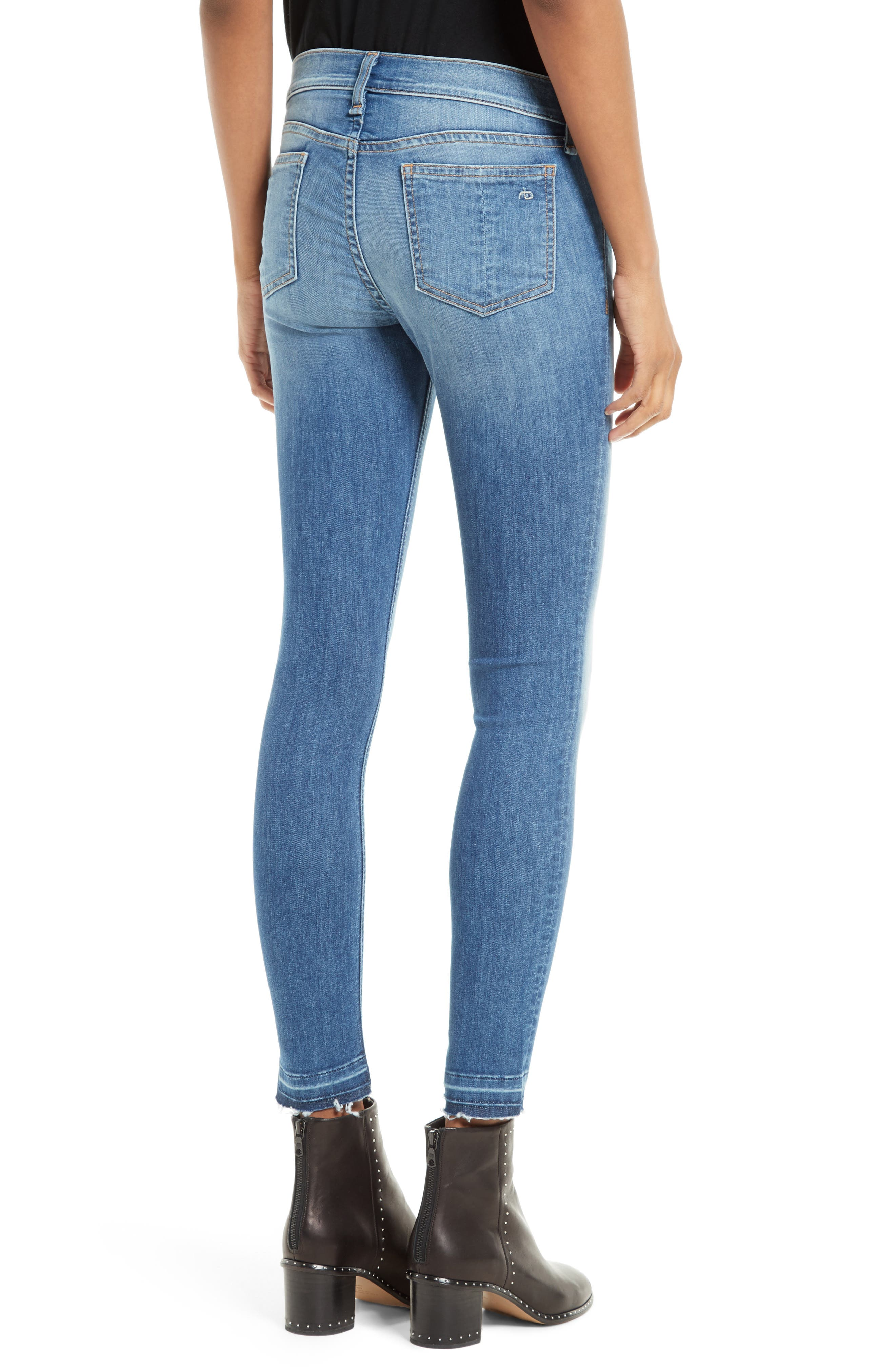 Capri Skinny Jeans,                             Alternate thumbnail 2, color,                             CLEAN LILLY DALE