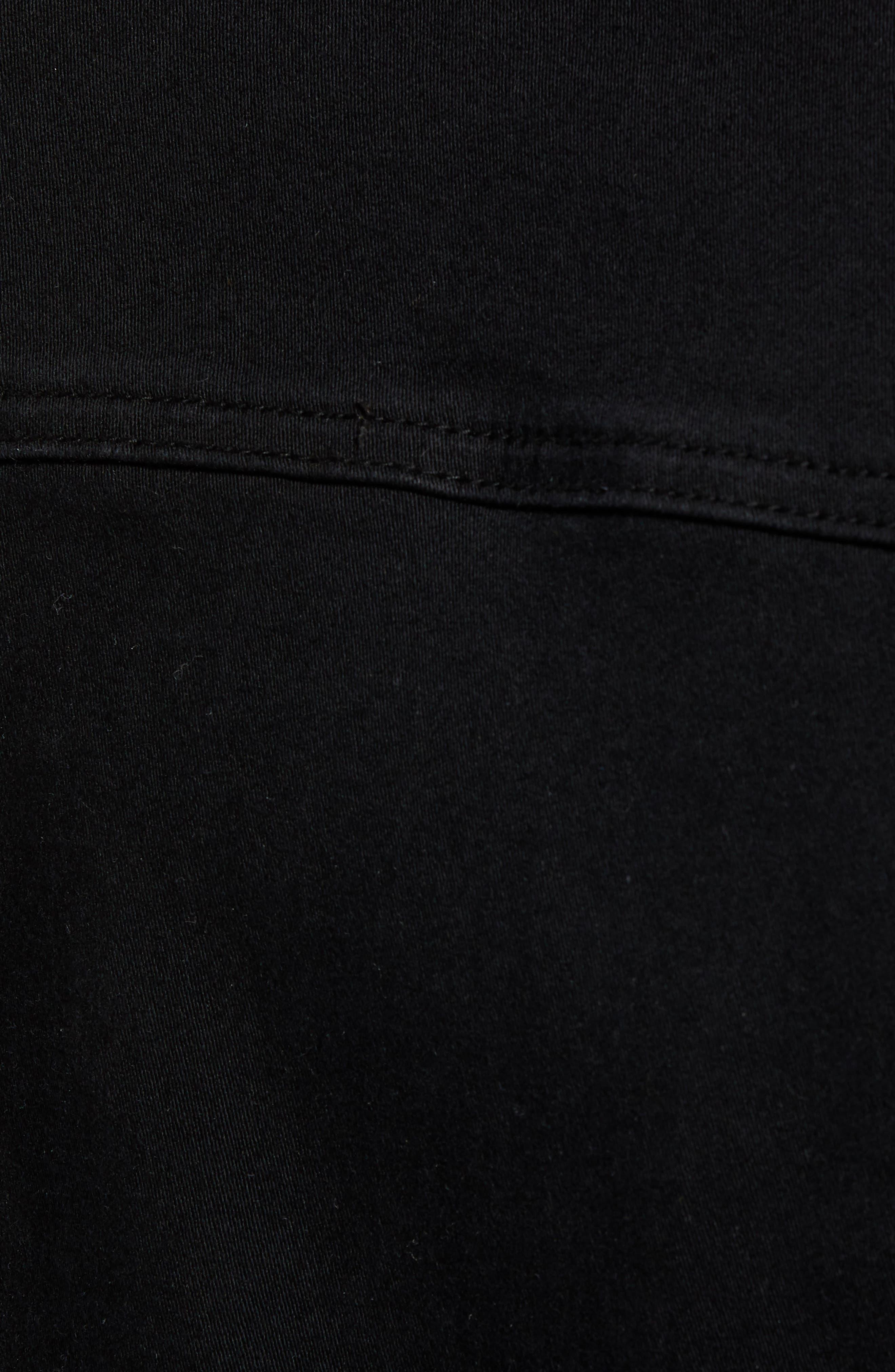 Contour Denim Jacket,                             Alternate thumbnail 7, color,                             BLACK