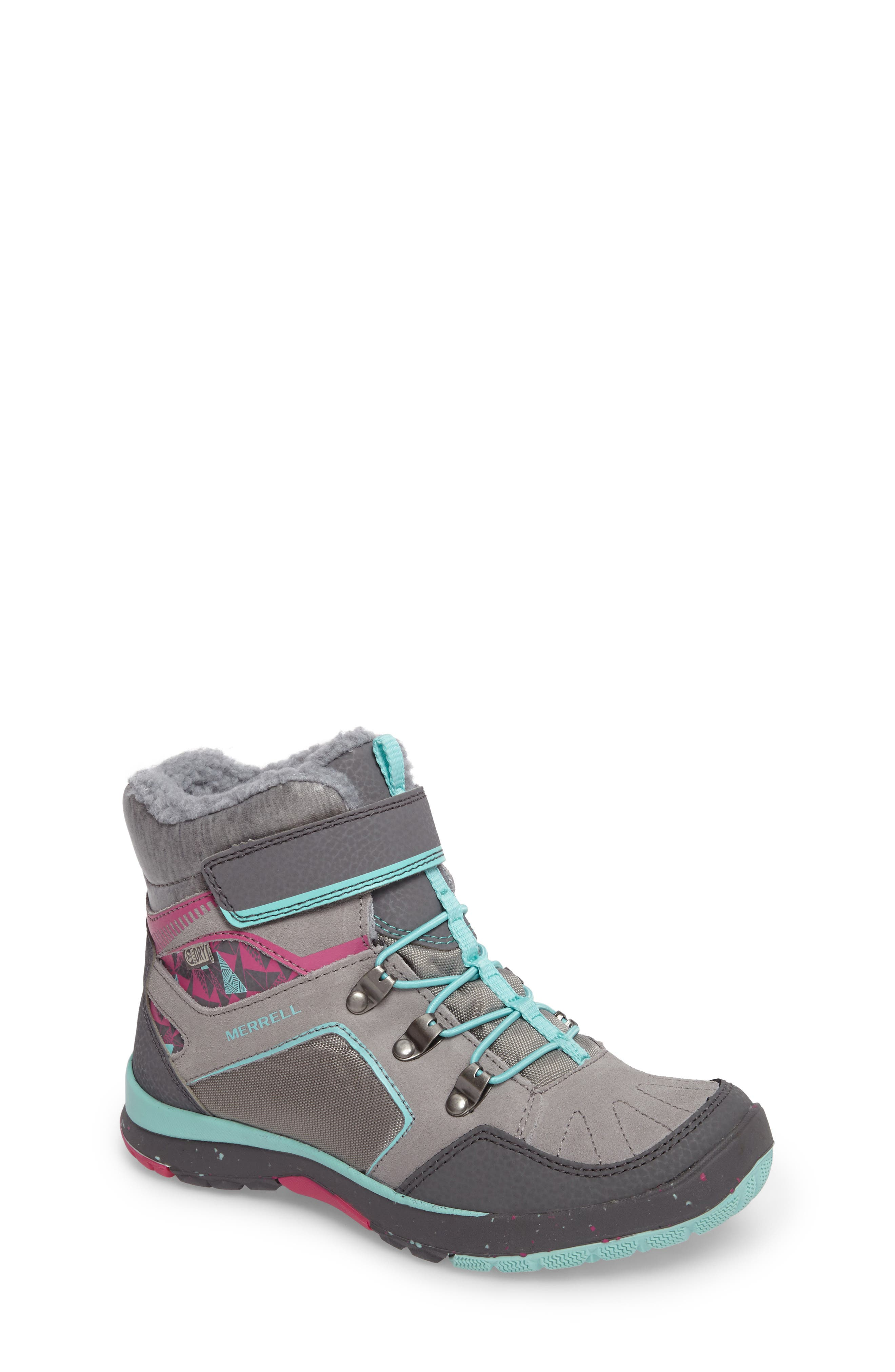 Moab FST Polar Mid Waterproof Insulated Sneaker Boot,                             Main thumbnail 1, color,