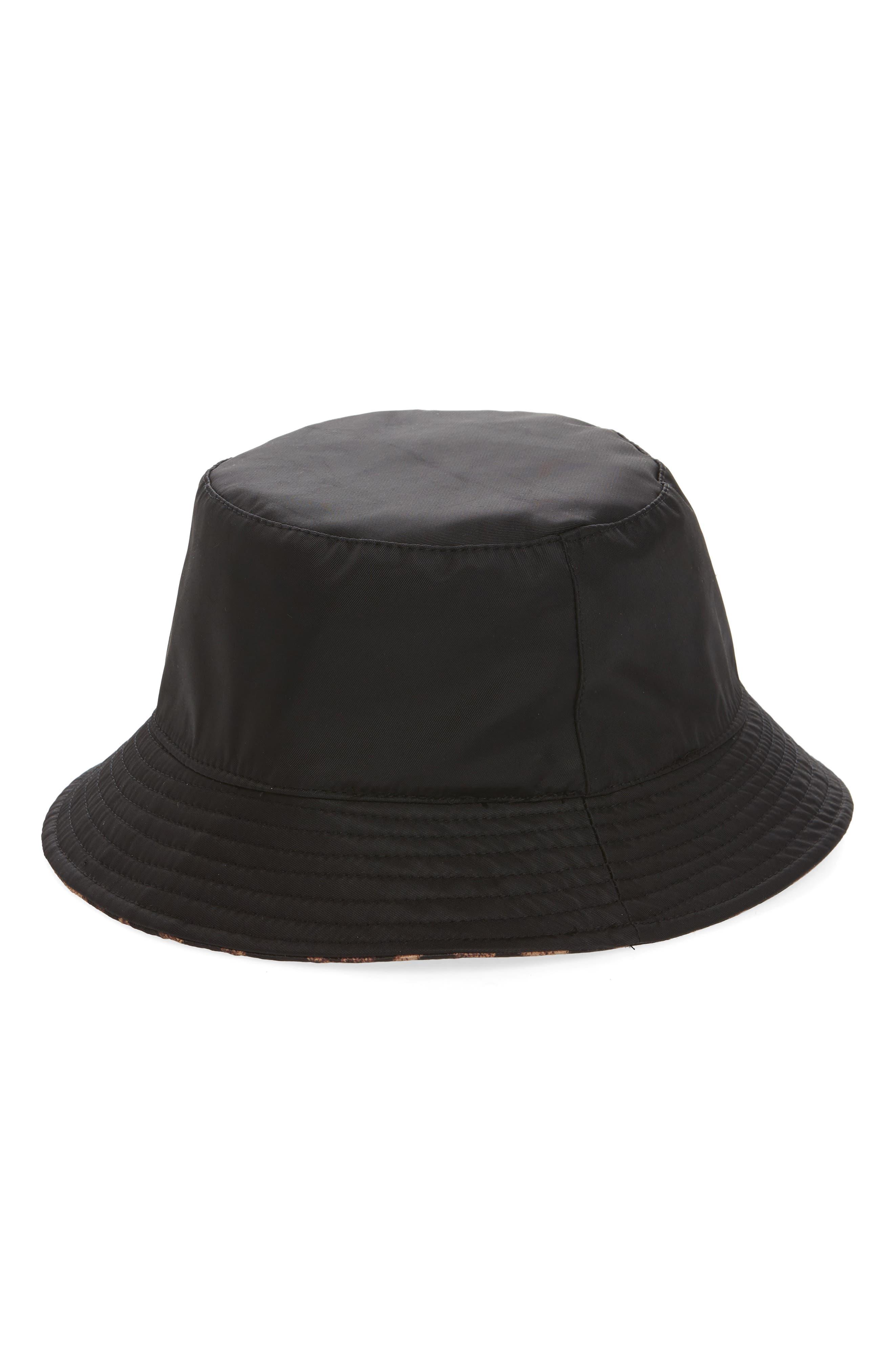 Leopard Spot Reversible Bucket Hat,                             Alternate thumbnail 2, color,                             TAN