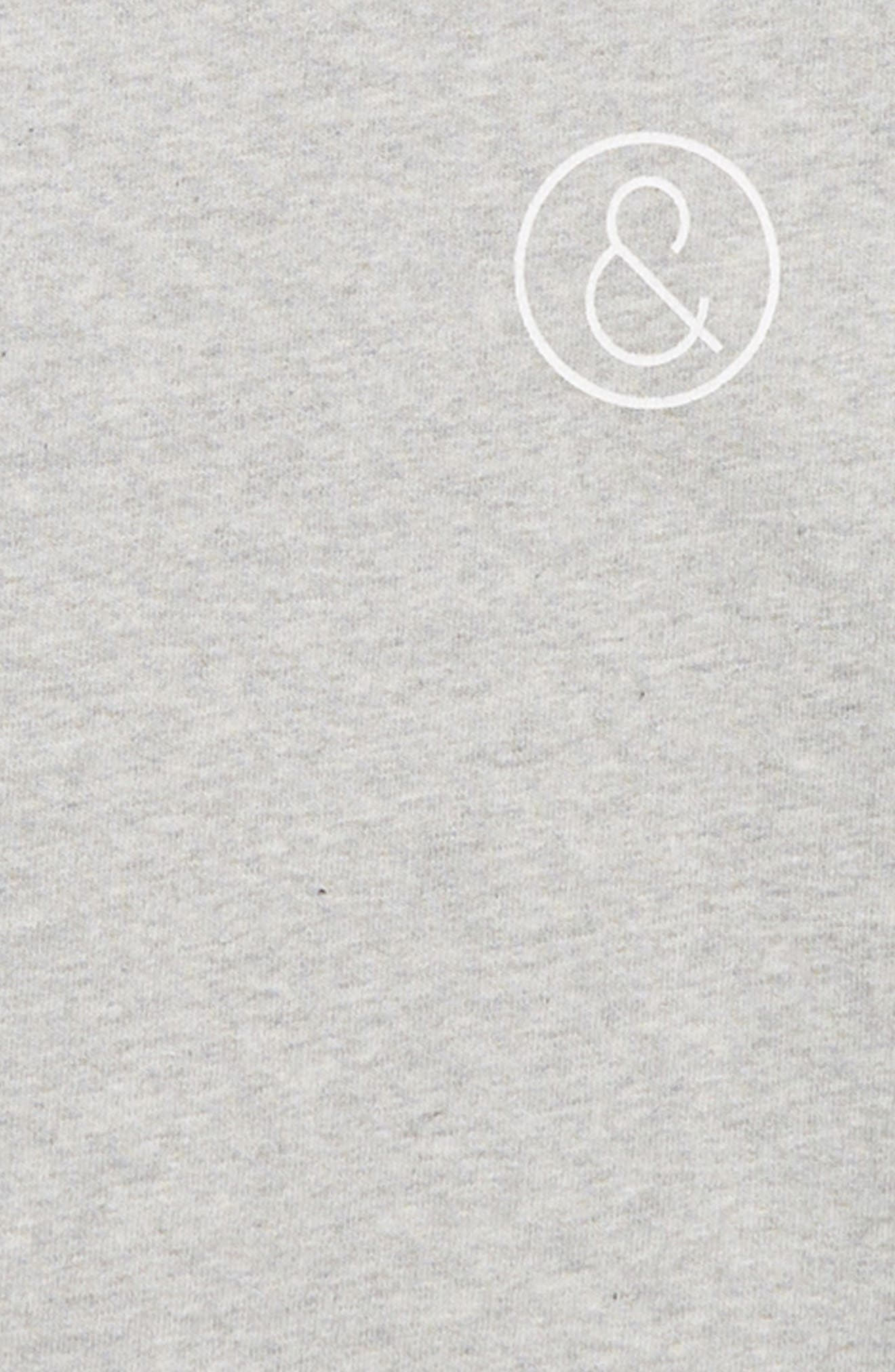 Varsity Fleece Sweatshirt,                             Alternate thumbnail 2, color,                             GREY ASH HEATHER