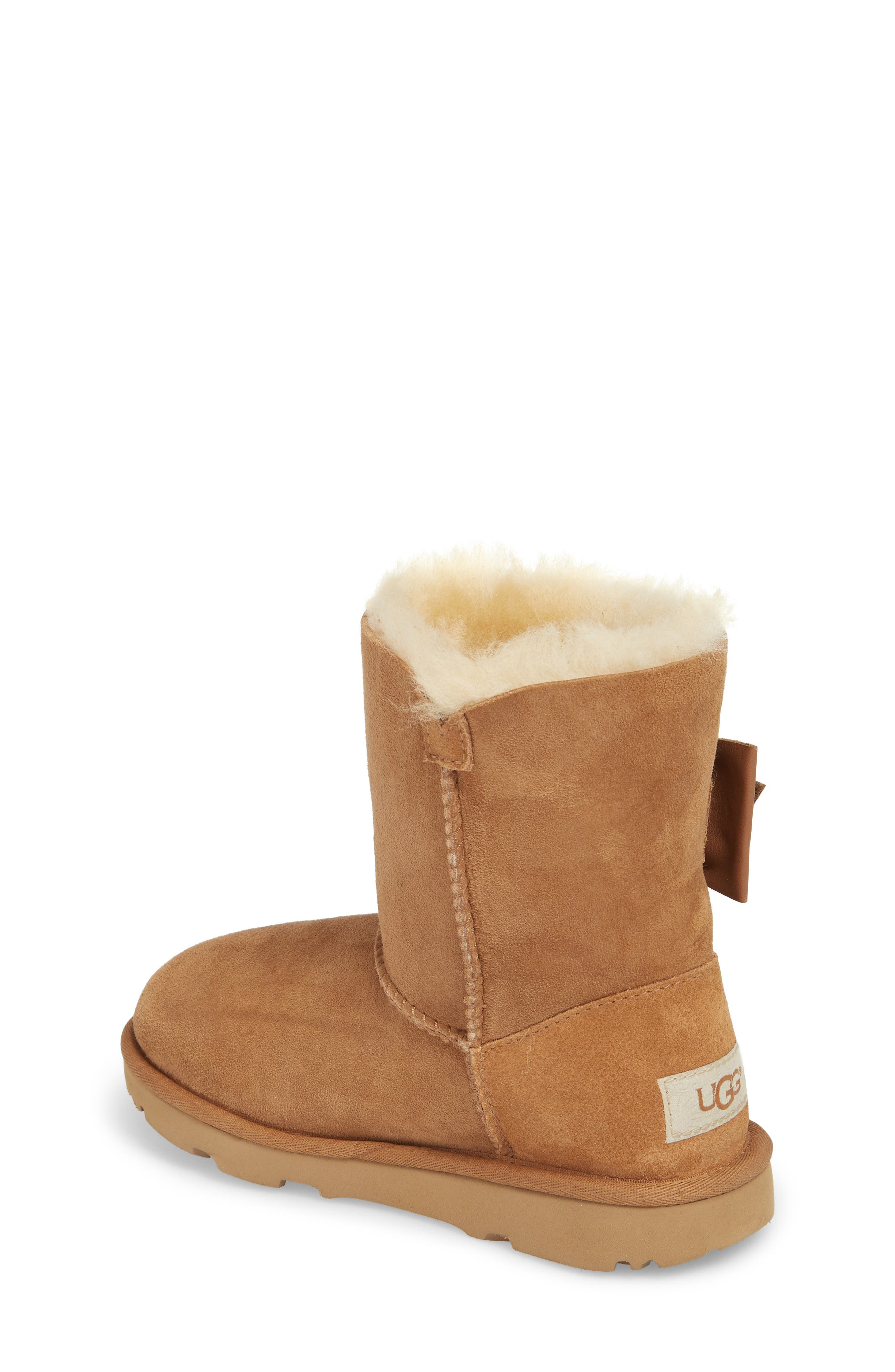 UGG<SUP>®</SUP>,                             Daelynn Bow Genuine Shearling Boot,                             Alternate thumbnail 2, color,                             219