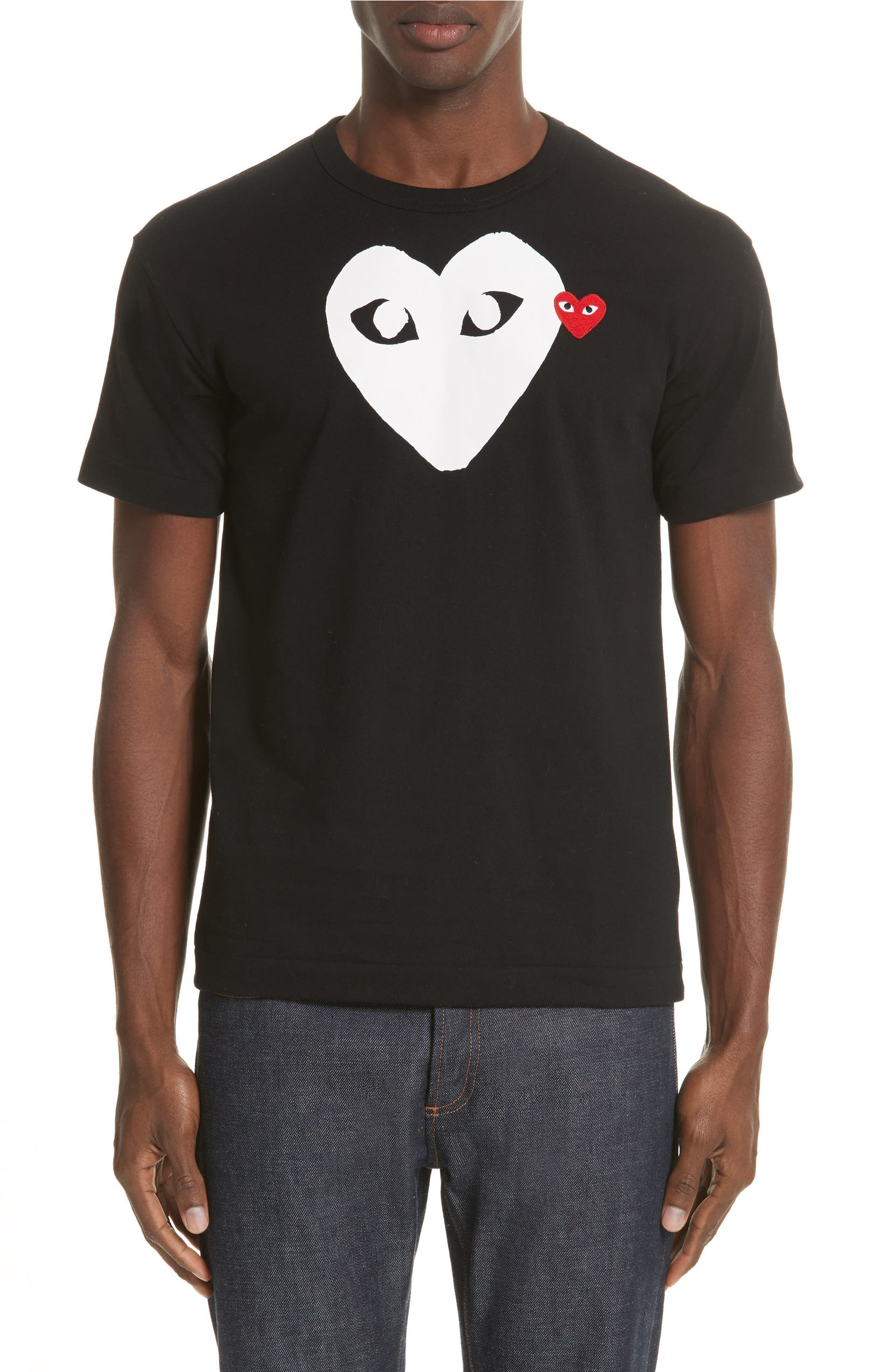 Comme Des Garons Play X Ray Heart Logo T Shirt Nordstrom