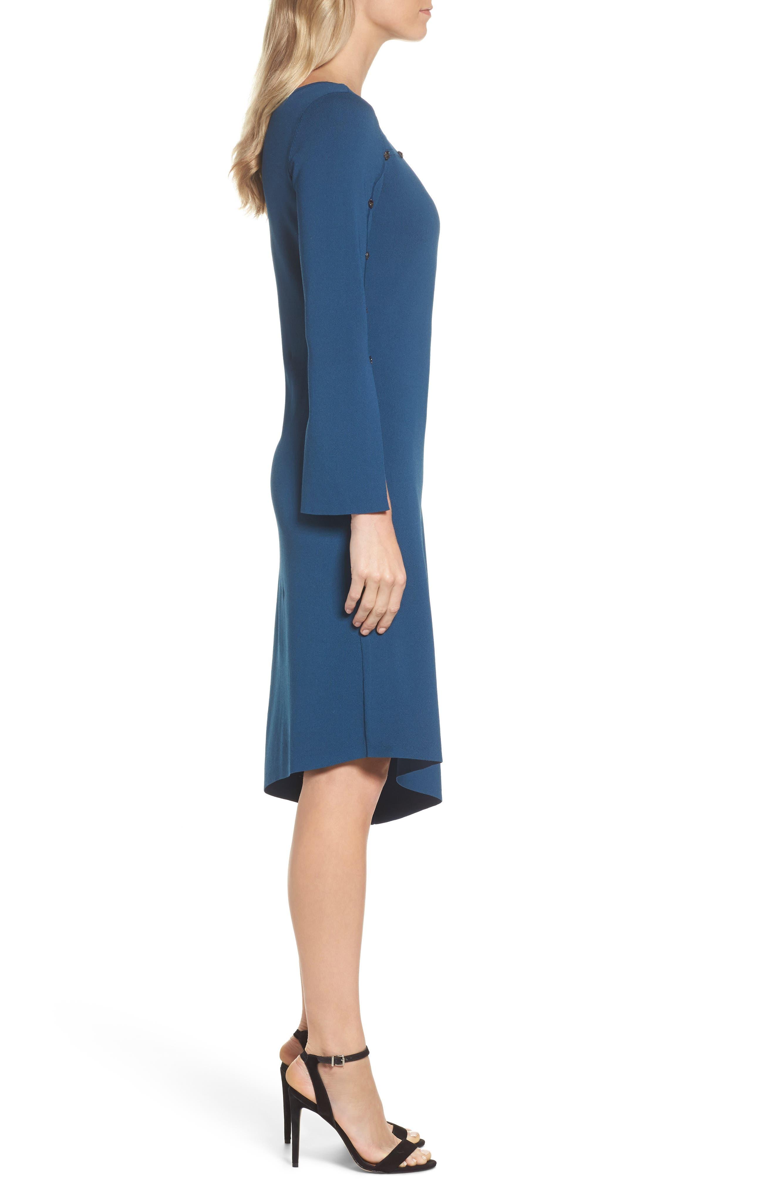 Studded Asymmetrical Dress,                             Alternate thumbnail 6, color,