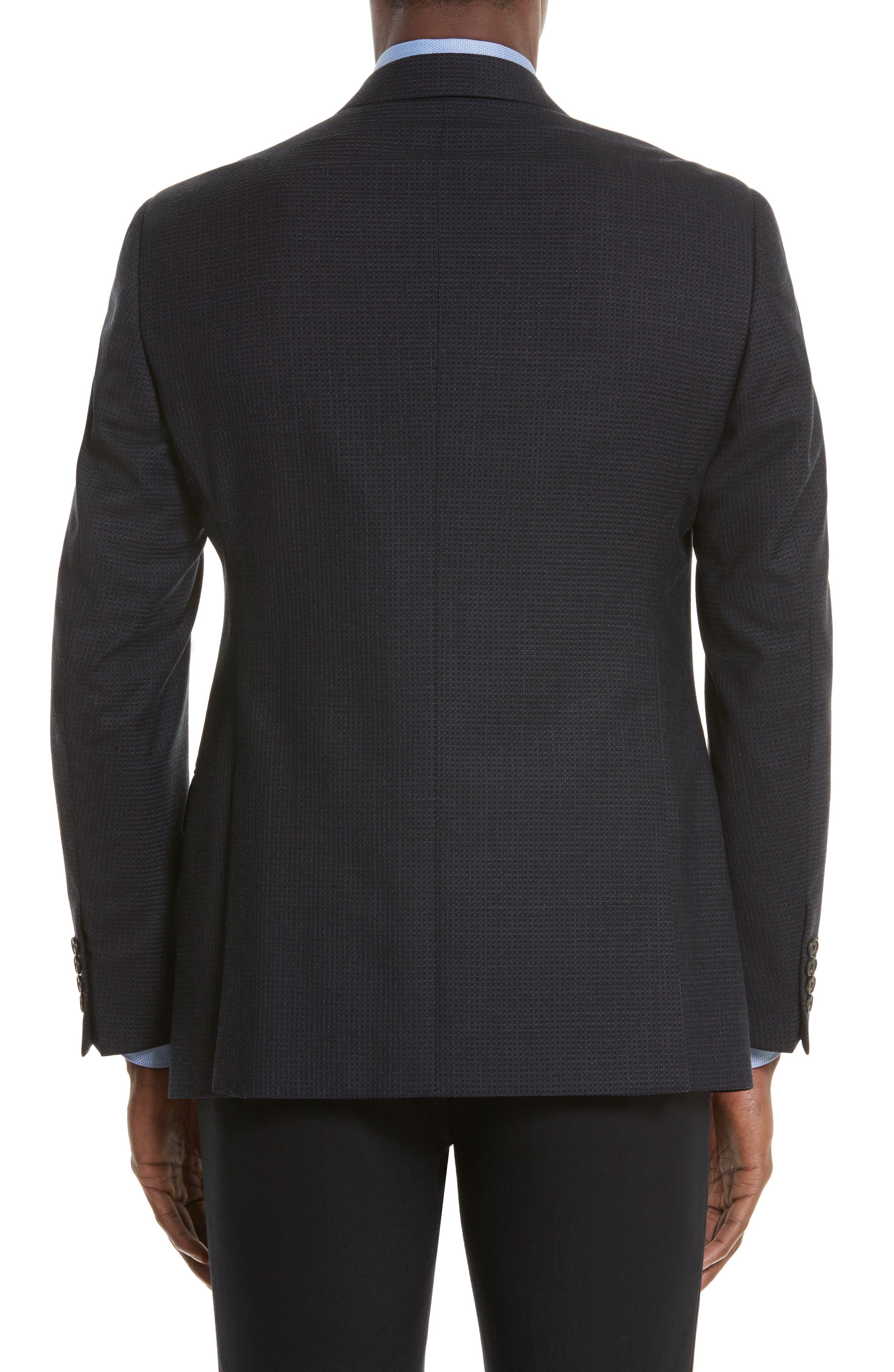 Trim Fit Check Wool Sport Coat,                             Alternate thumbnail 2, color,                             410