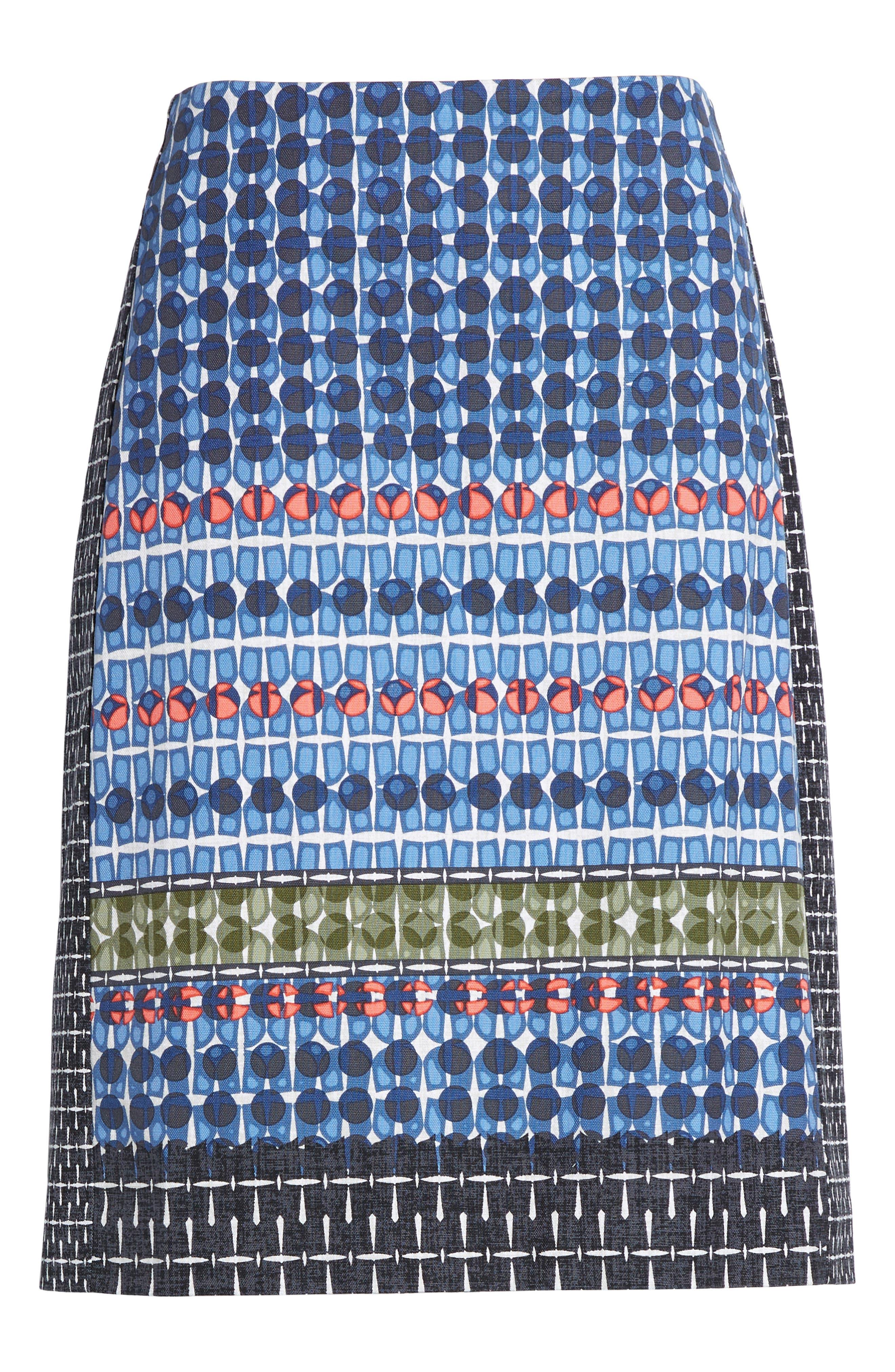 NIC + ZOE Tile Pencil Skirt,                             Alternate thumbnail 6, color,                             490