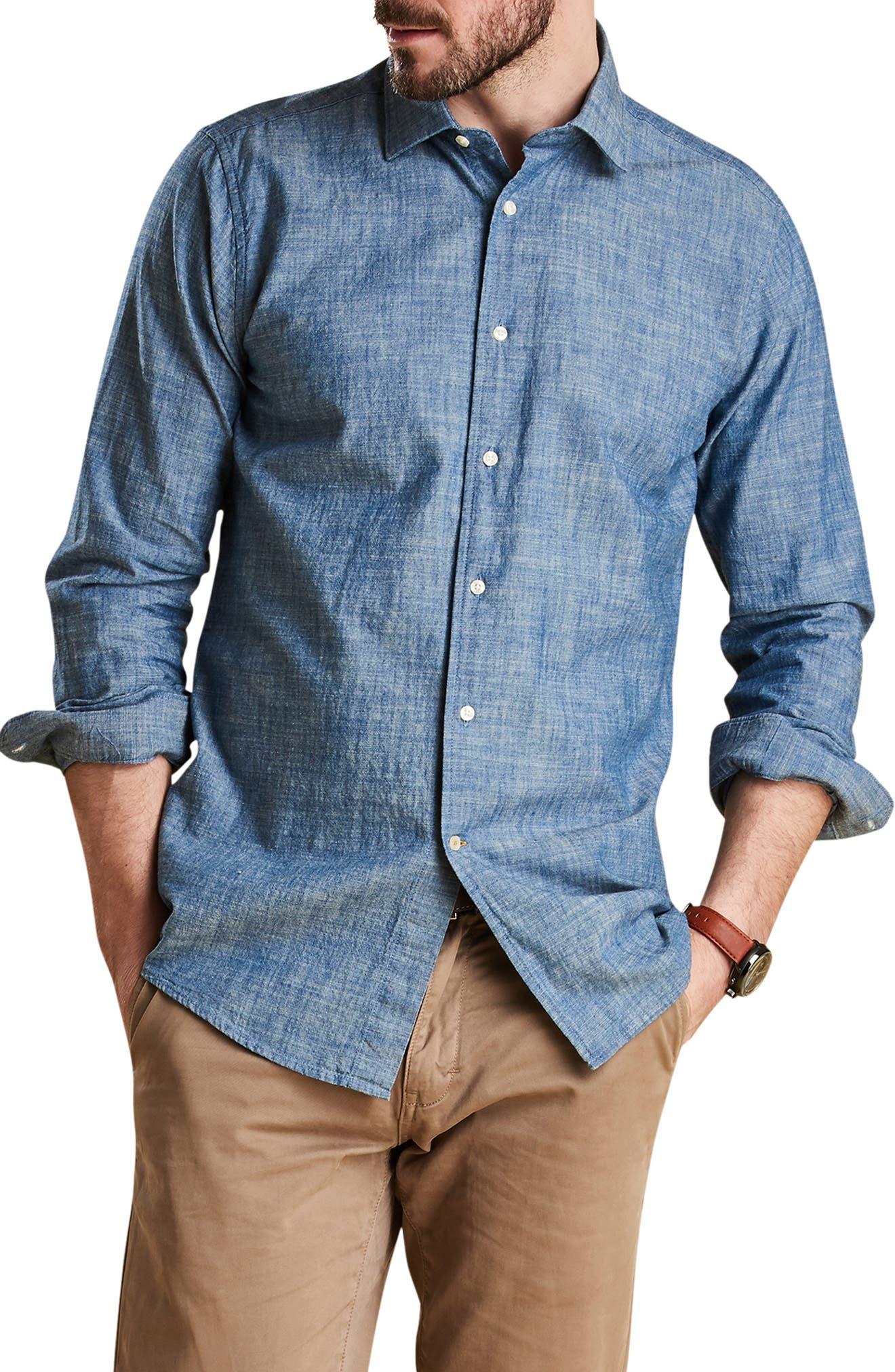 Highfield Chambray Shirt,                         Main,                         color, INDIGO