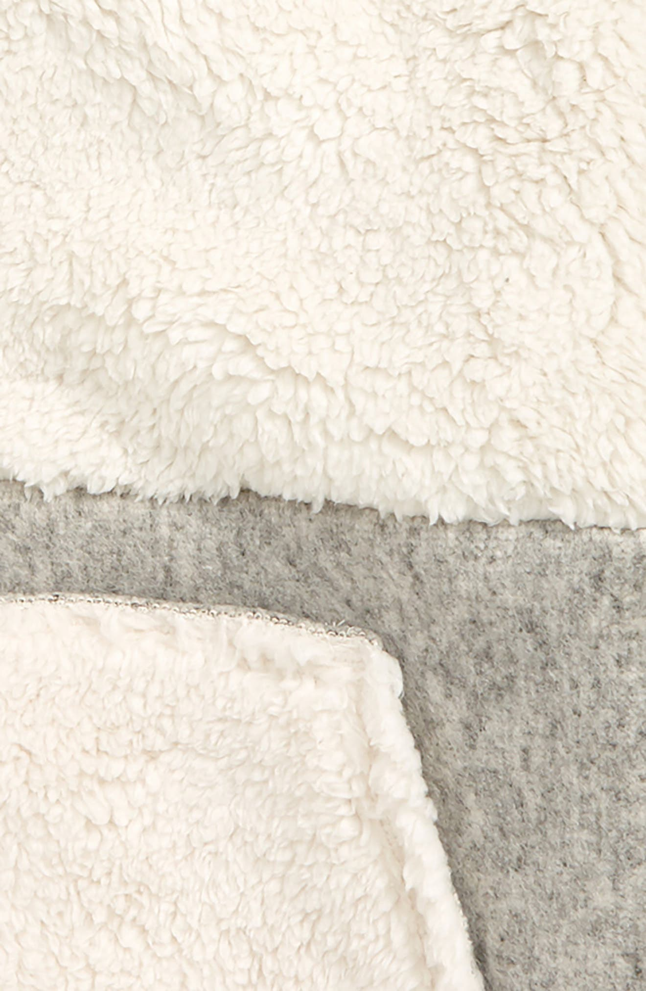 Shaggy Colorblock Fleece Hoodie,                             Alternate thumbnail 2, color,                             GREY ASH HEATHER- IVORY