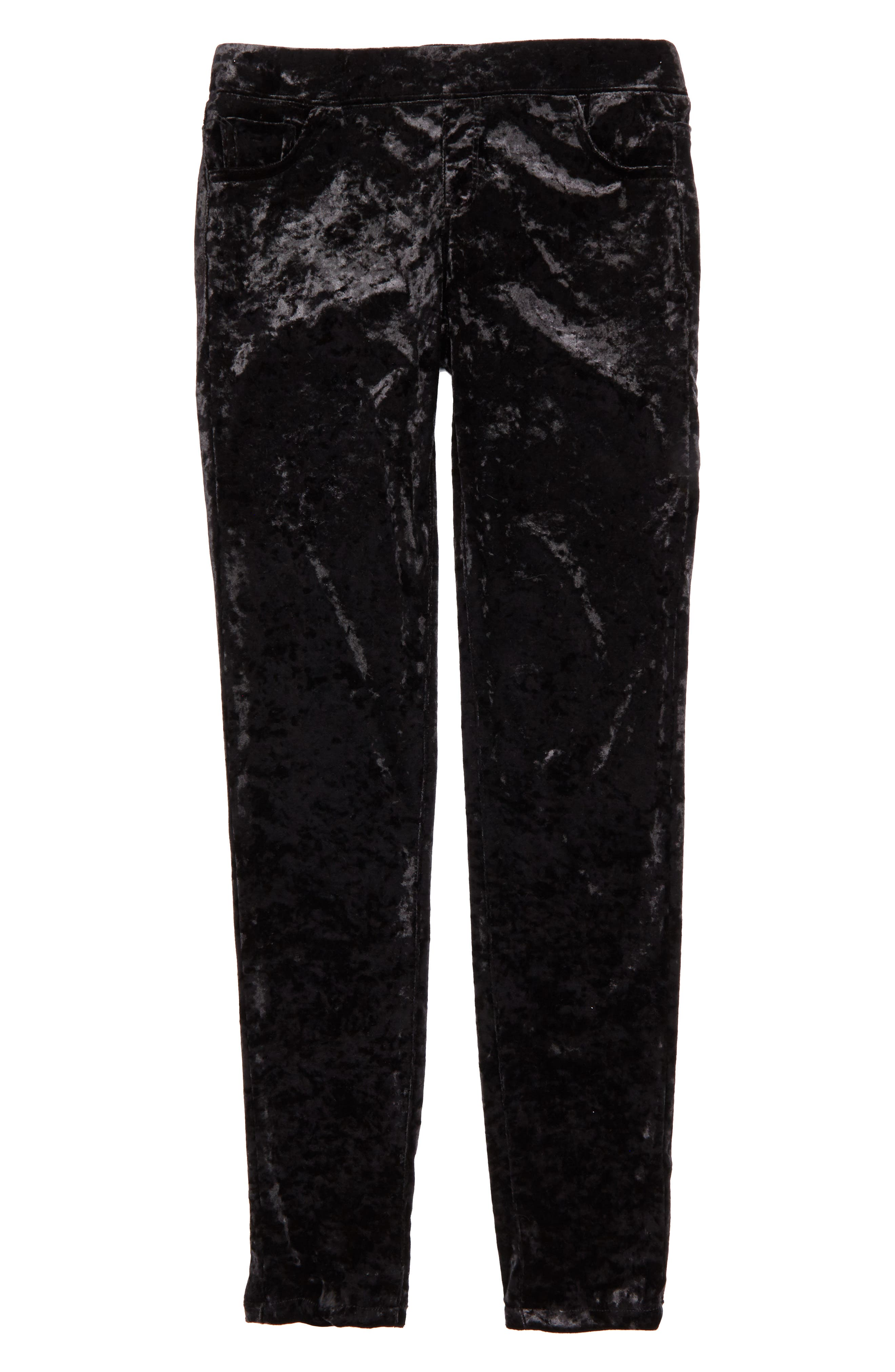 Crushed Velvet Skinny Pants,                         Main,                         color, 001