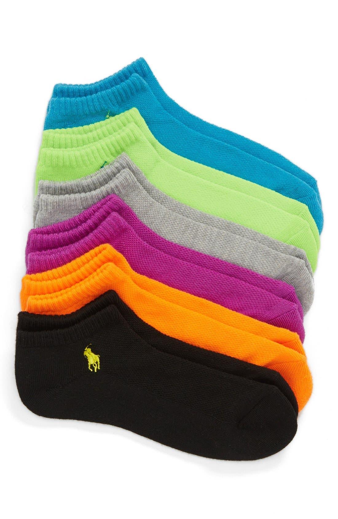 Sport 6-Pack Low-Cut Socks,                             Main thumbnail 5, color,