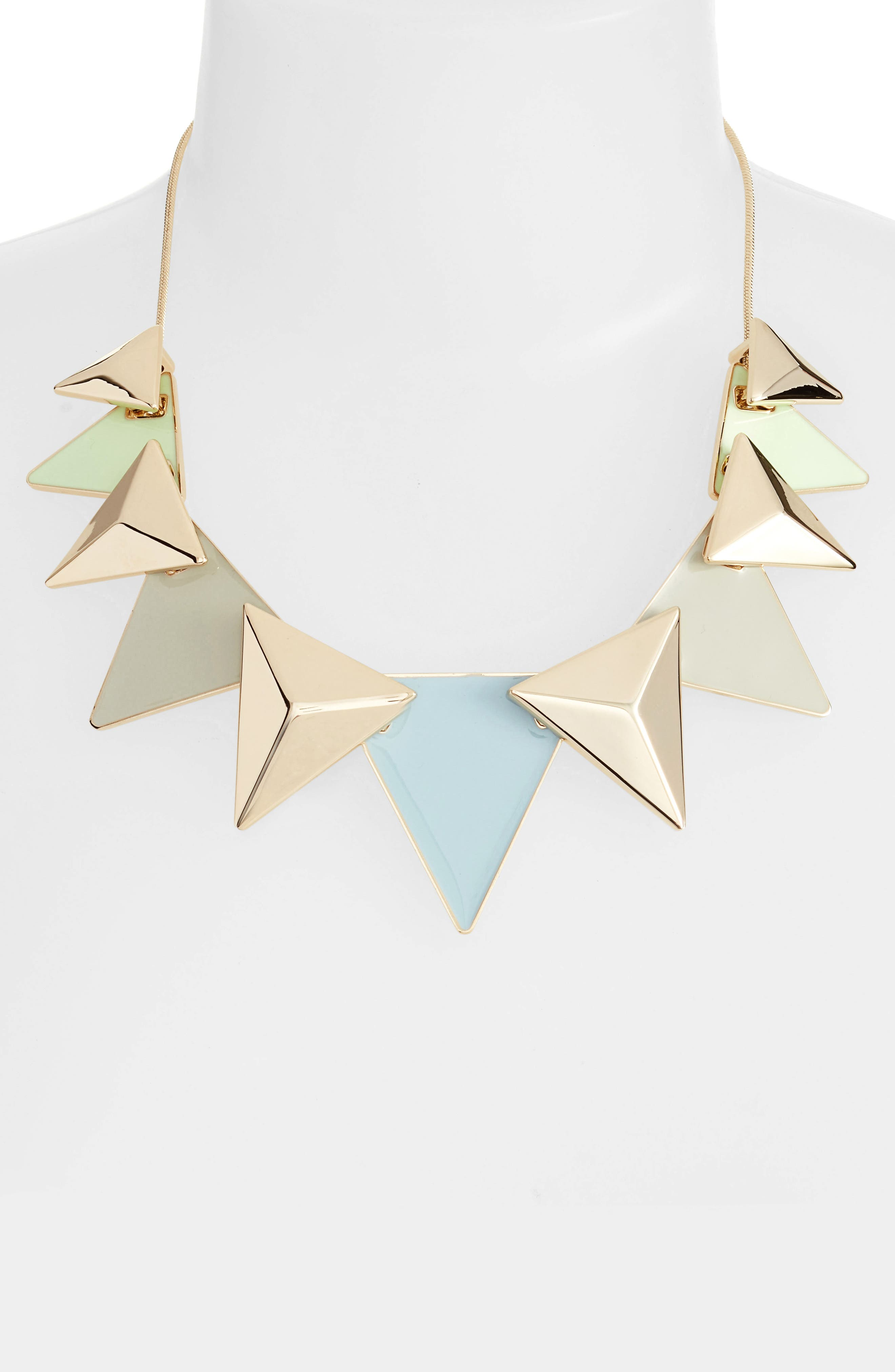 Layered Triangle Statement Necklace,                             Alternate thumbnail 2, color,                             020