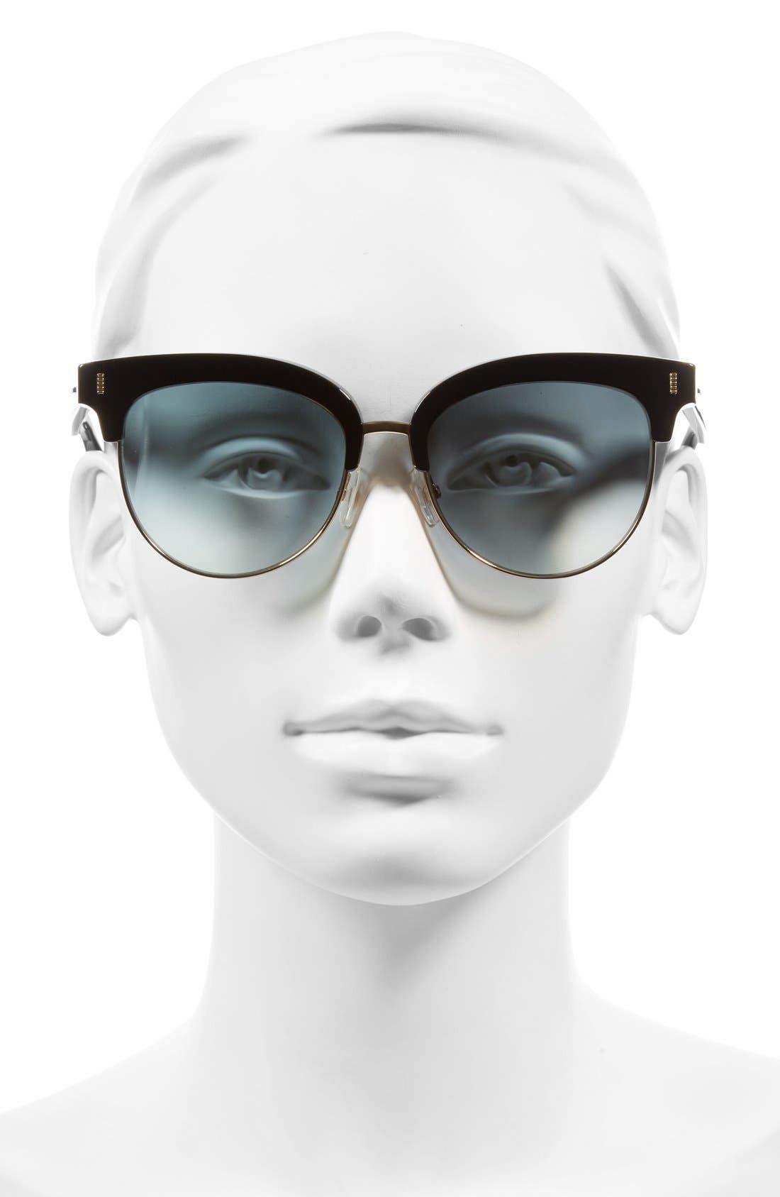 54mm Sunglasses,                             Alternate thumbnail 2, color,                             BLACK