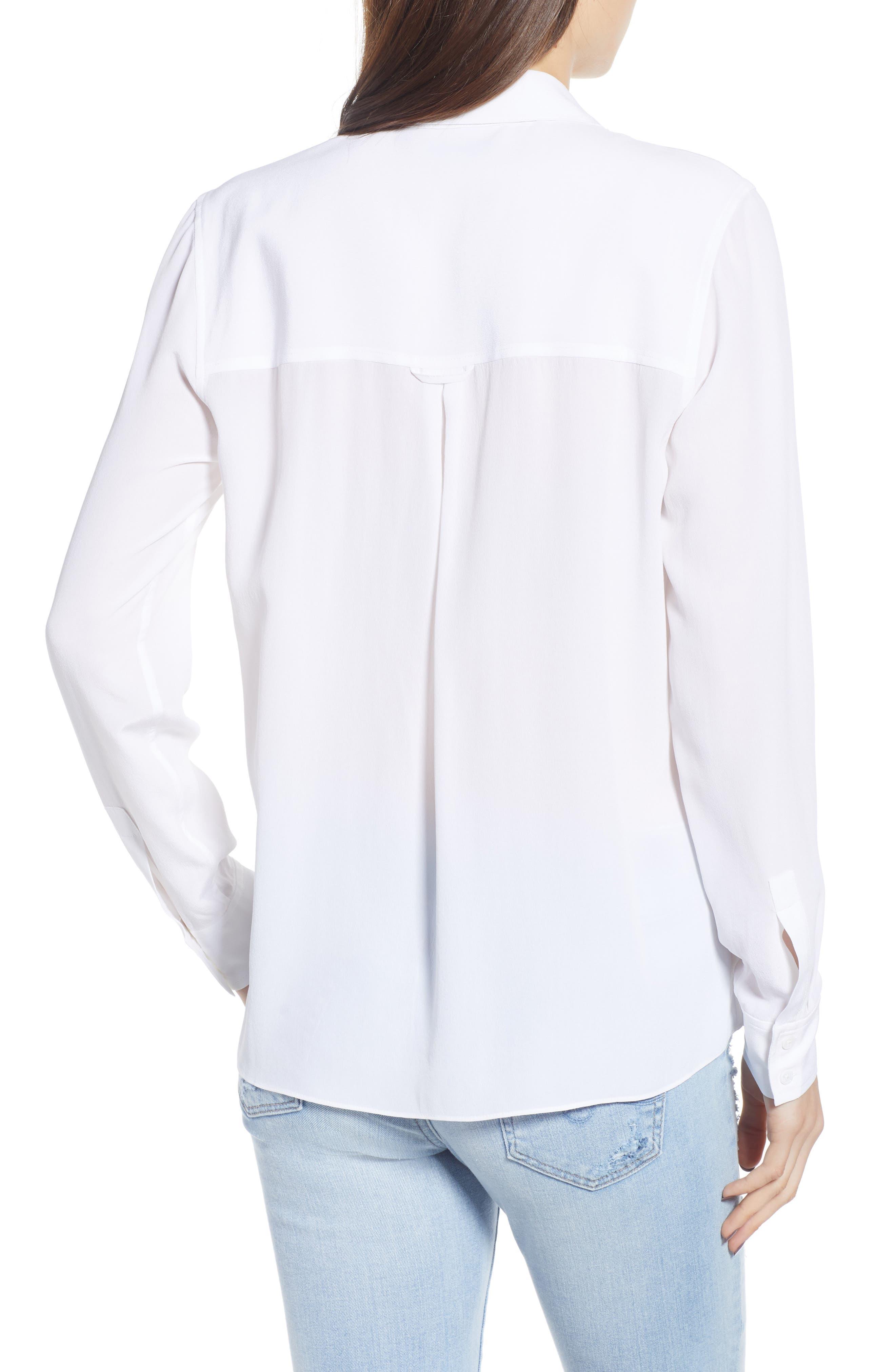 Rhett Silk Shirt,                             Alternate thumbnail 3, color,                             IVORY