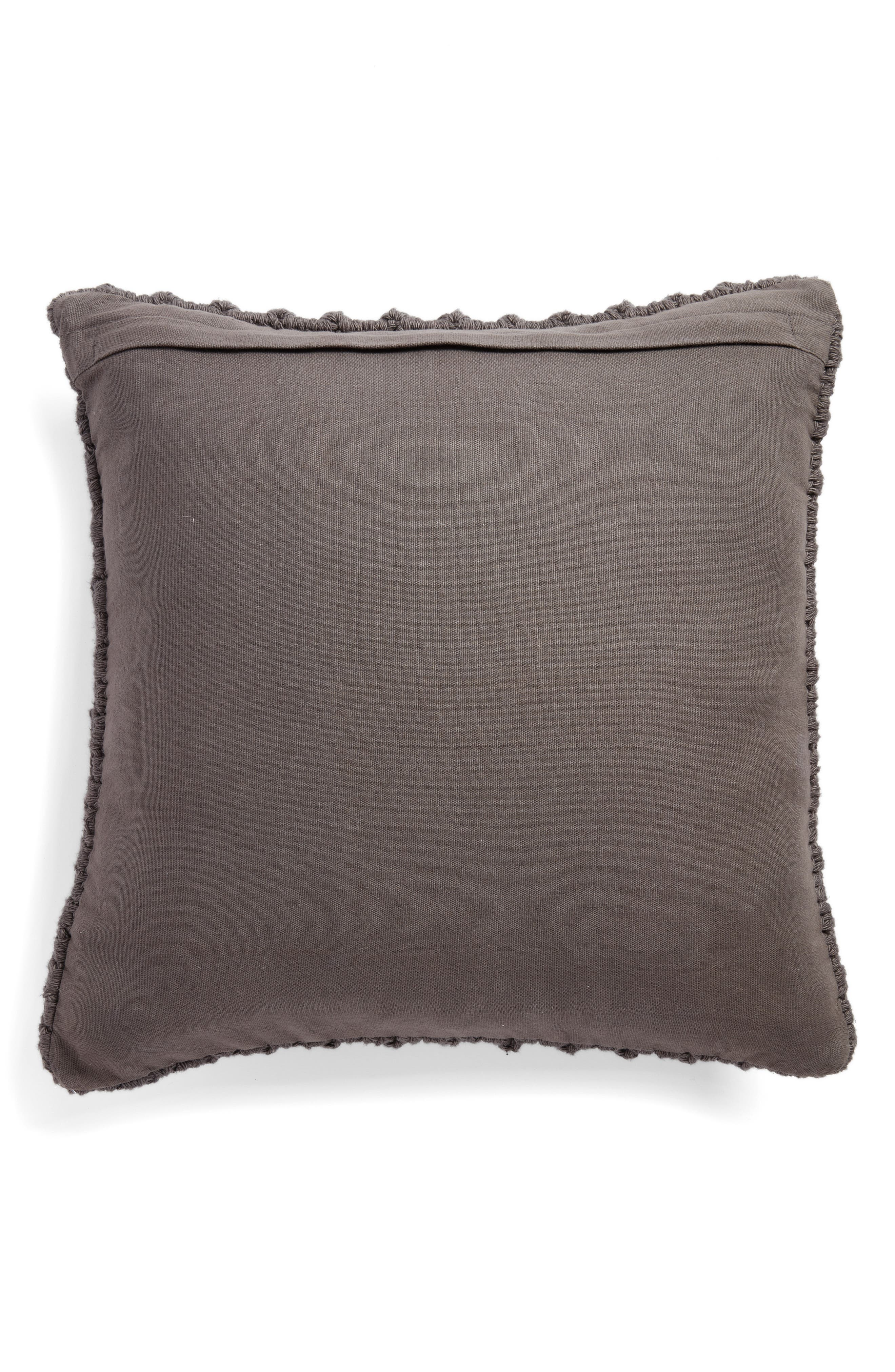 Pebble Knit Accent Pillow,                             Alternate thumbnail 2, color,                             GREY ONYX