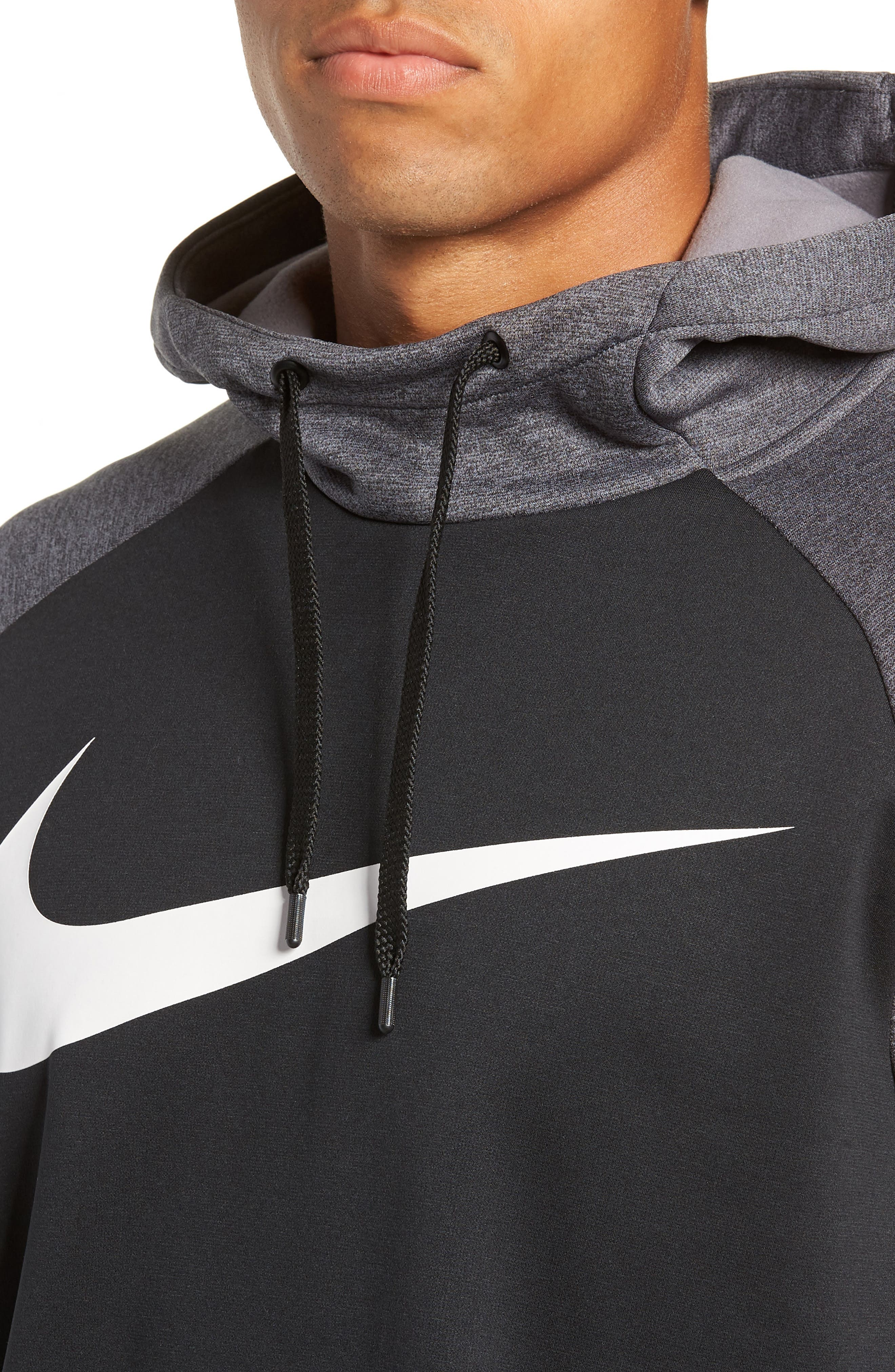 NIKE,                             Therma Swoosh Dry Pullover Hoodie,                             Alternate thumbnail 4, color,                             010