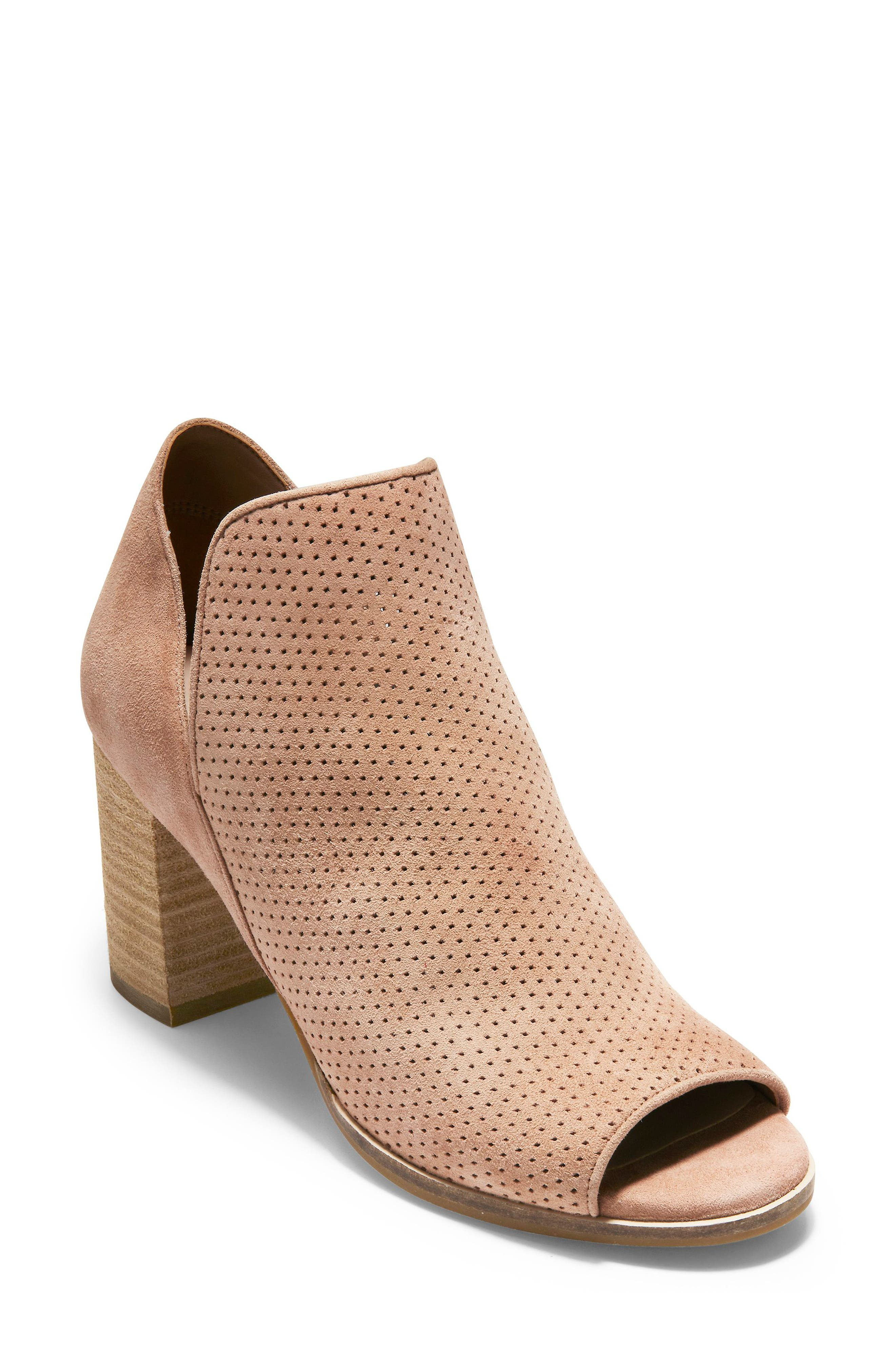 Cole Haan Shiloh Open Toe Bootie B - Pink