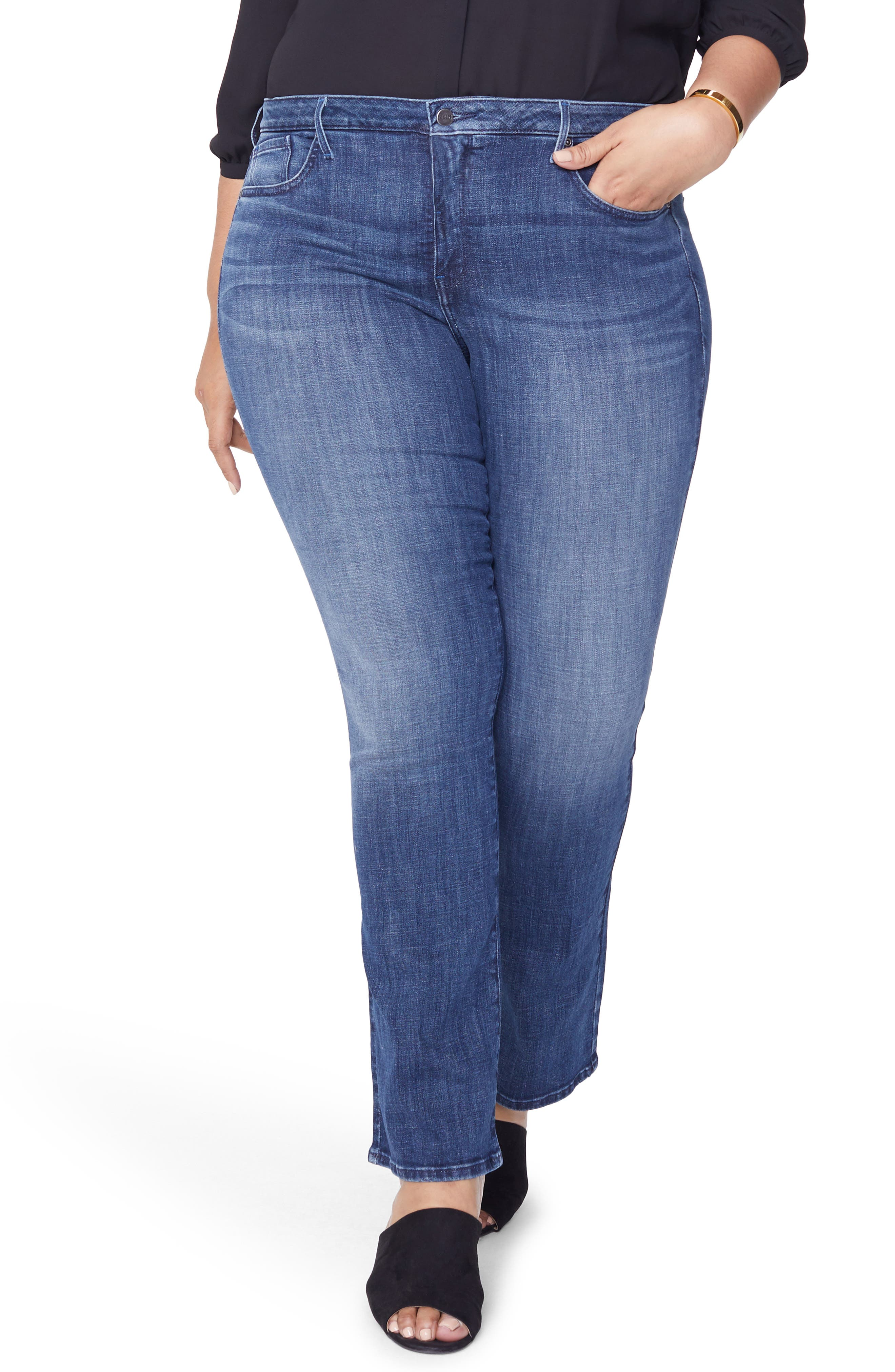 Barbara Bootcut Jeans,                         Main,                         color, LUPINE