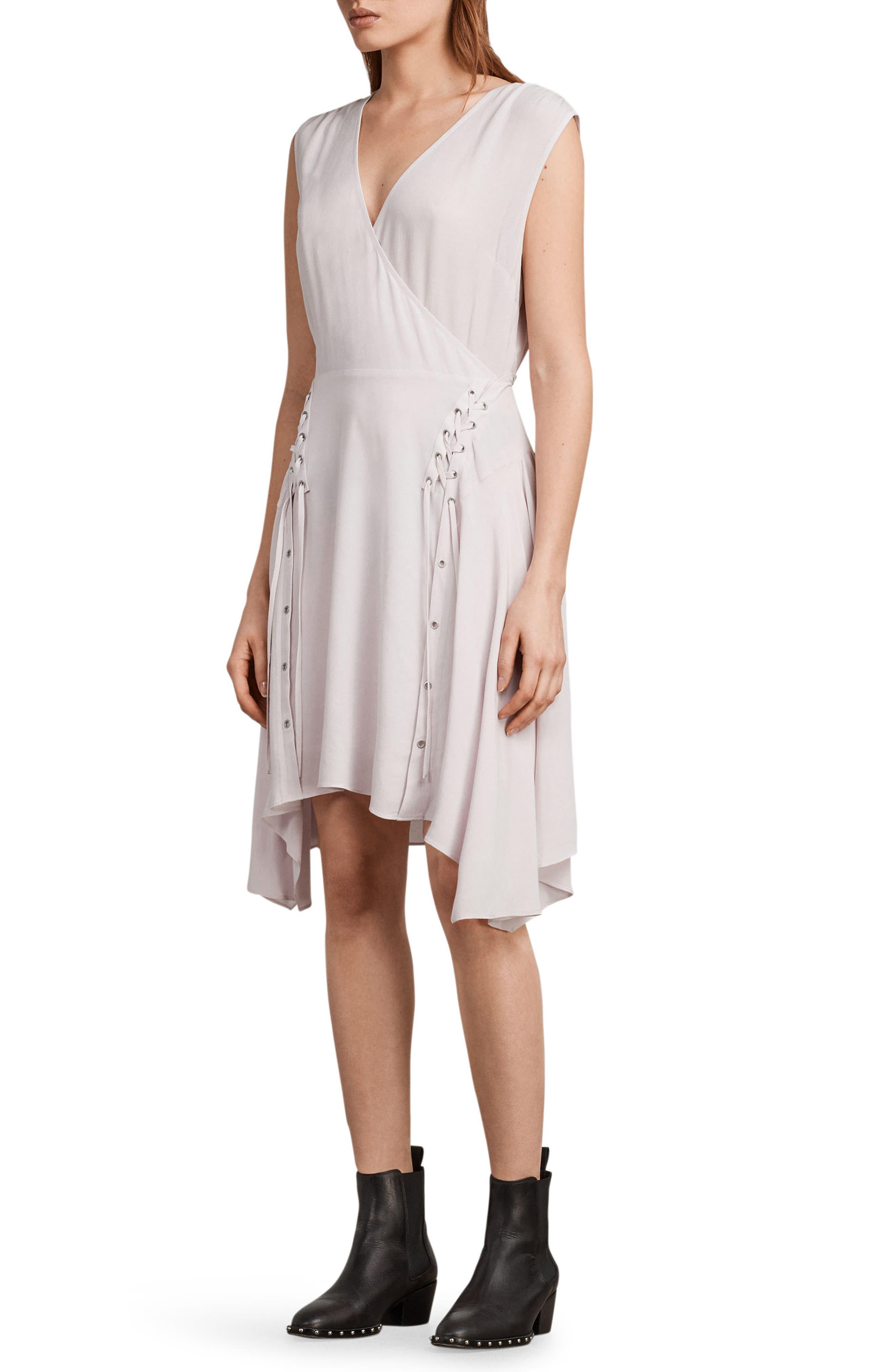 Miller Lace-Up Dress,                             Alternate thumbnail 6, color,                             691