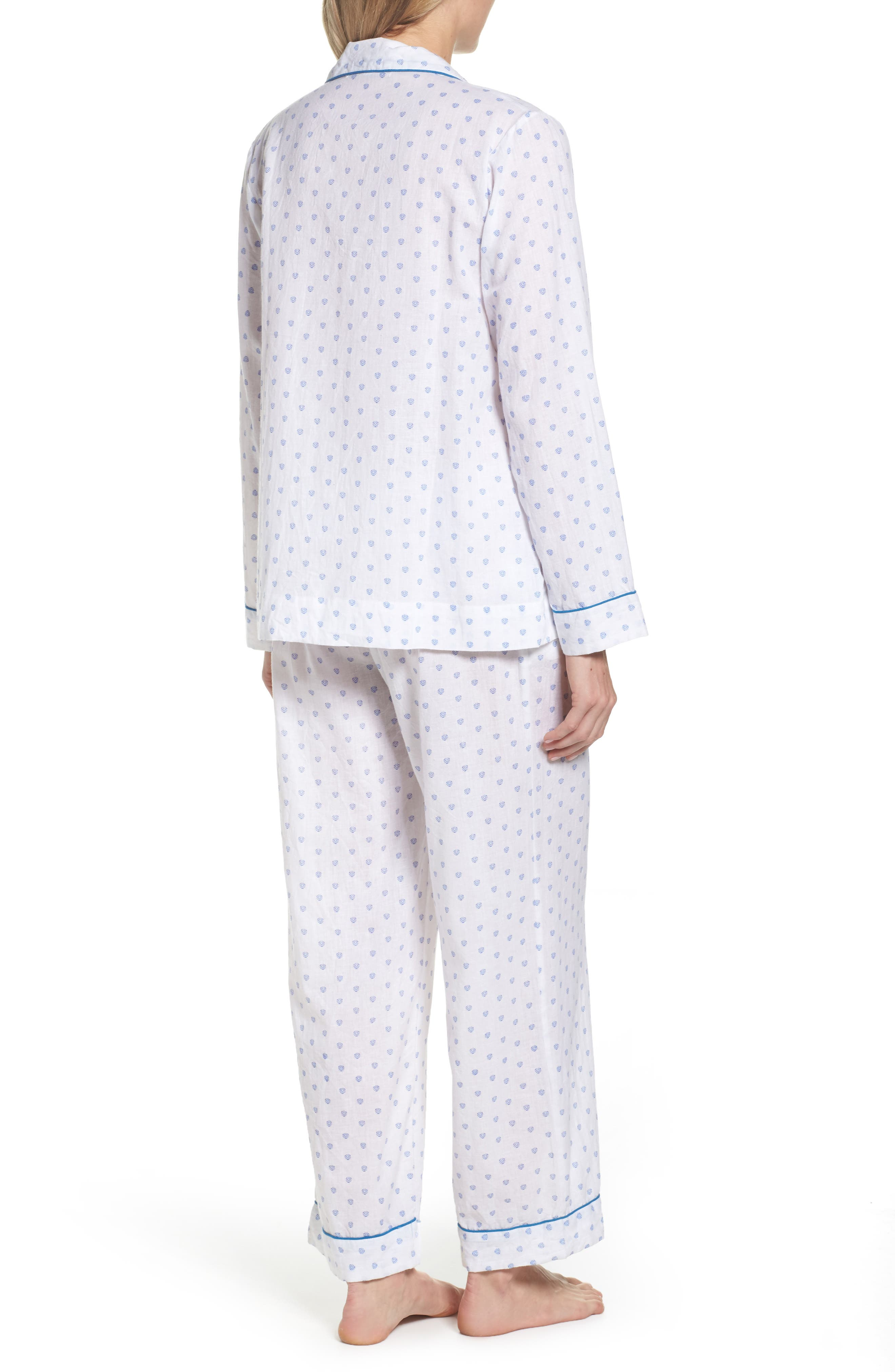 Washed Cotton Pajamas,                             Alternate thumbnail 2, color,                             100