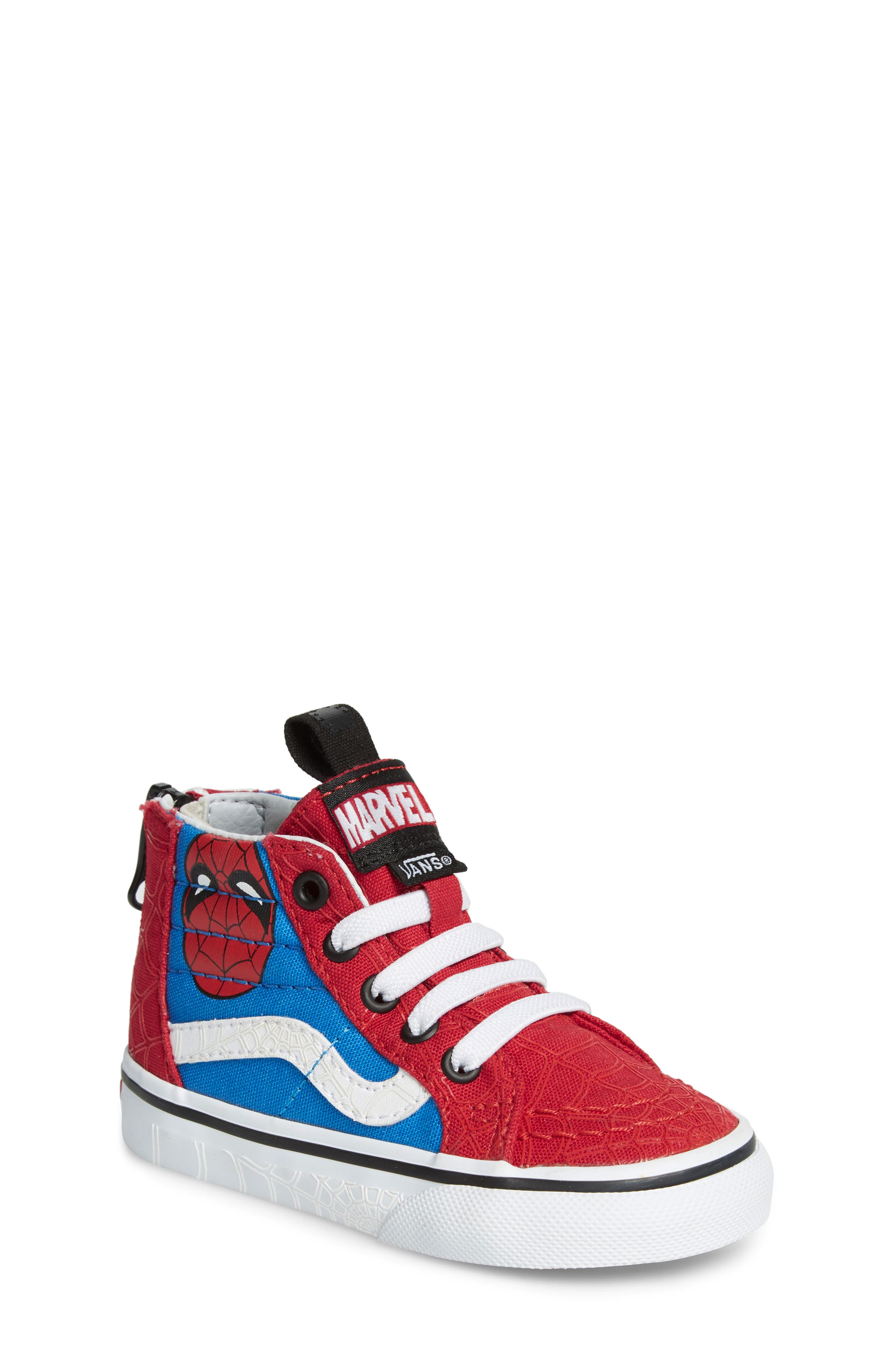 x Marvel<sup>®</sup> Spider-Man SK8-Hi Sneaker,                         Main,                         color, 610