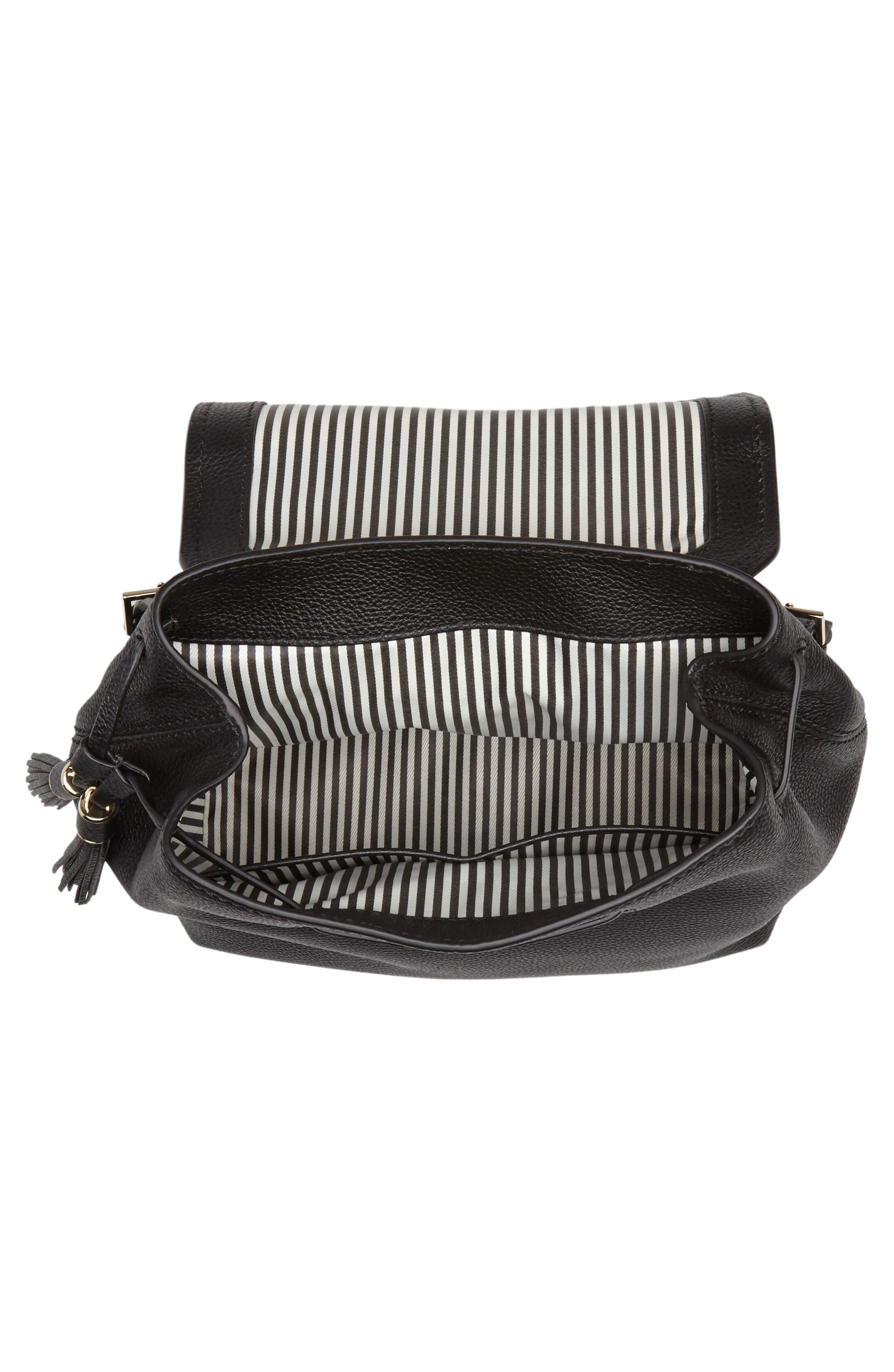 kingston drive - simona leather backpack,                             Alternate thumbnail 4, color,                             001