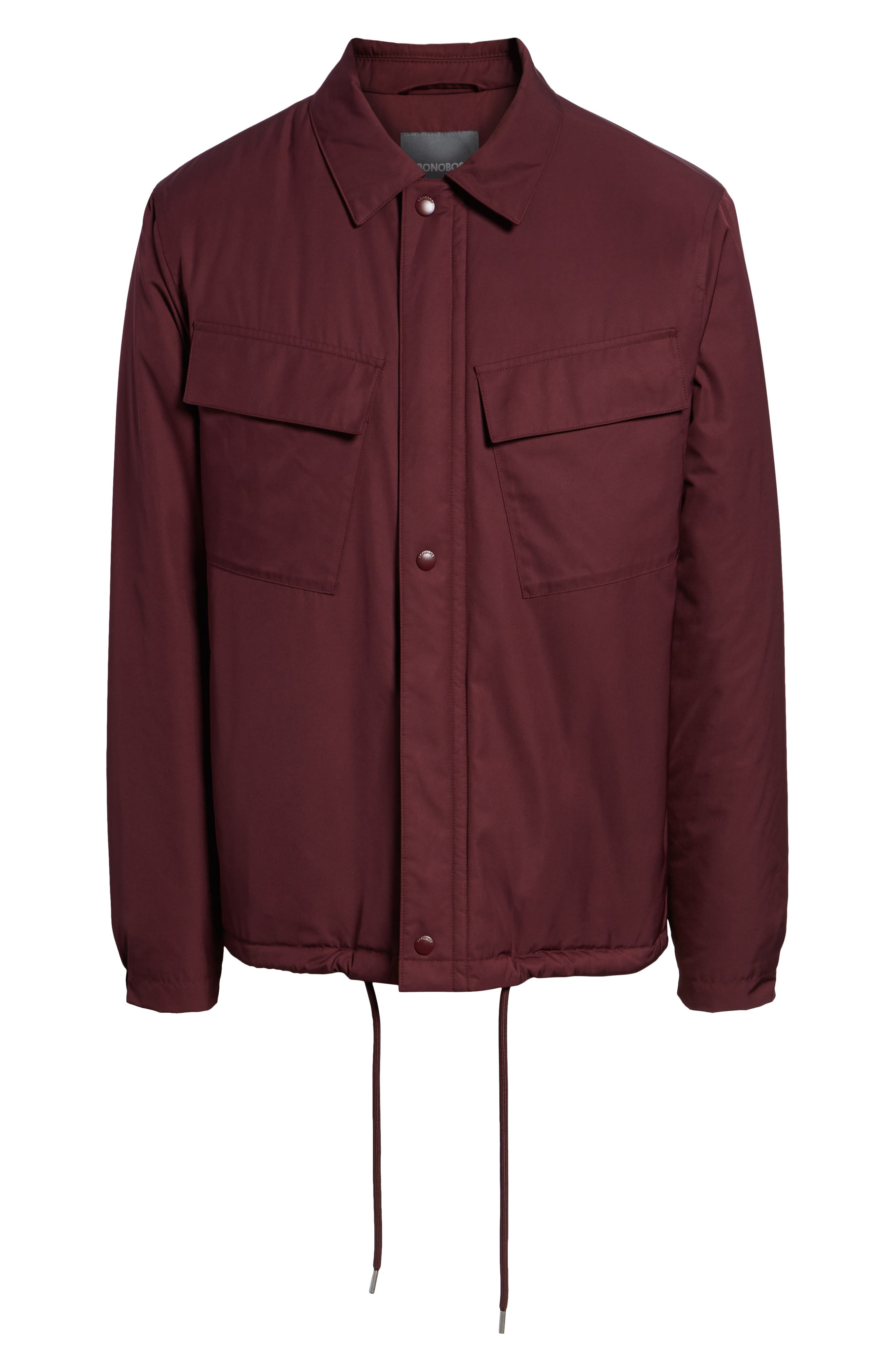 Coaches Jacket,                             Alternate thumbnail 6, color,                             BURGUNDY