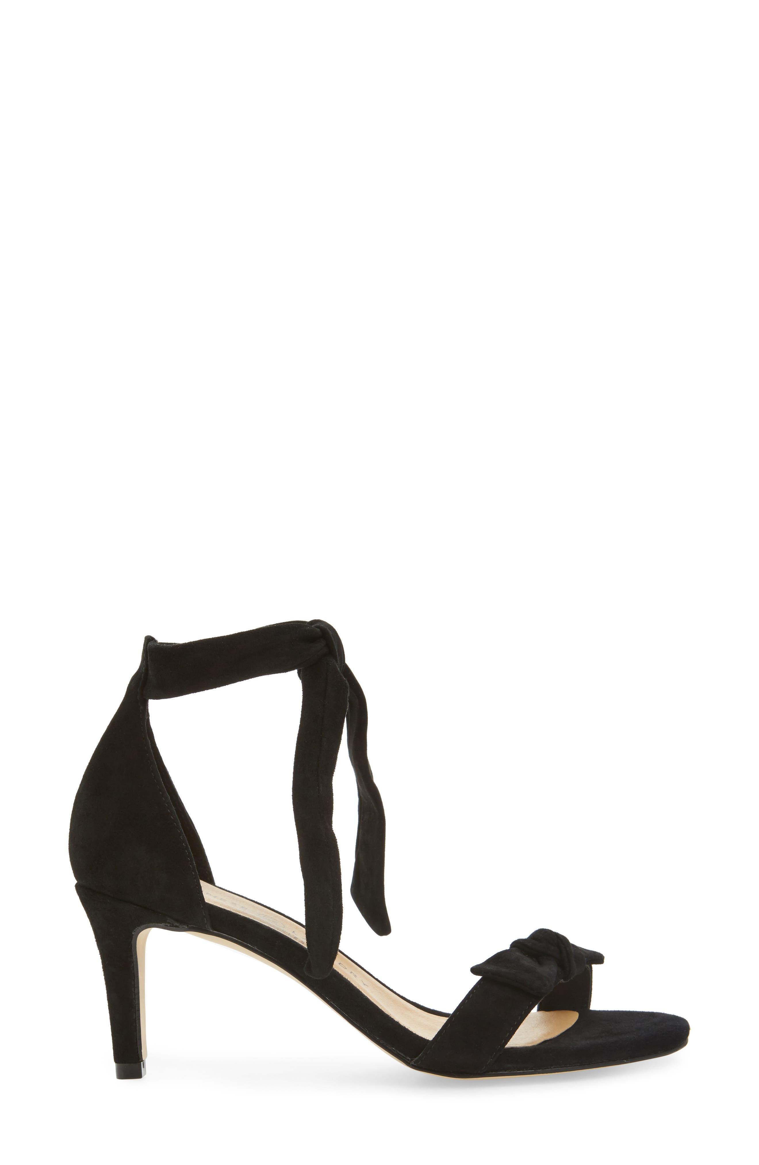 Rhonda Ankle Tie Sandal,                             Alternate thumbnail 3, color,                             001