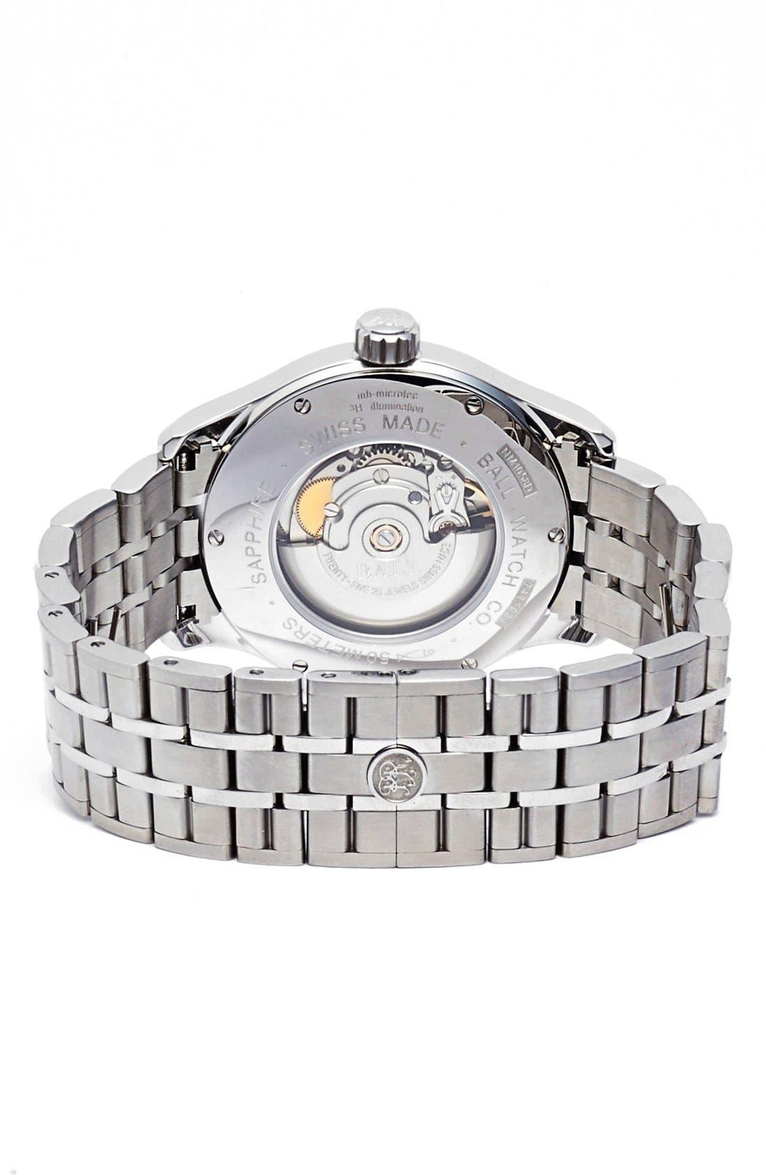 'Trainmaster 60 Seconds II' Bracelet Watch, 41mm,                             Alternate thumbnail 4, color,                             100
