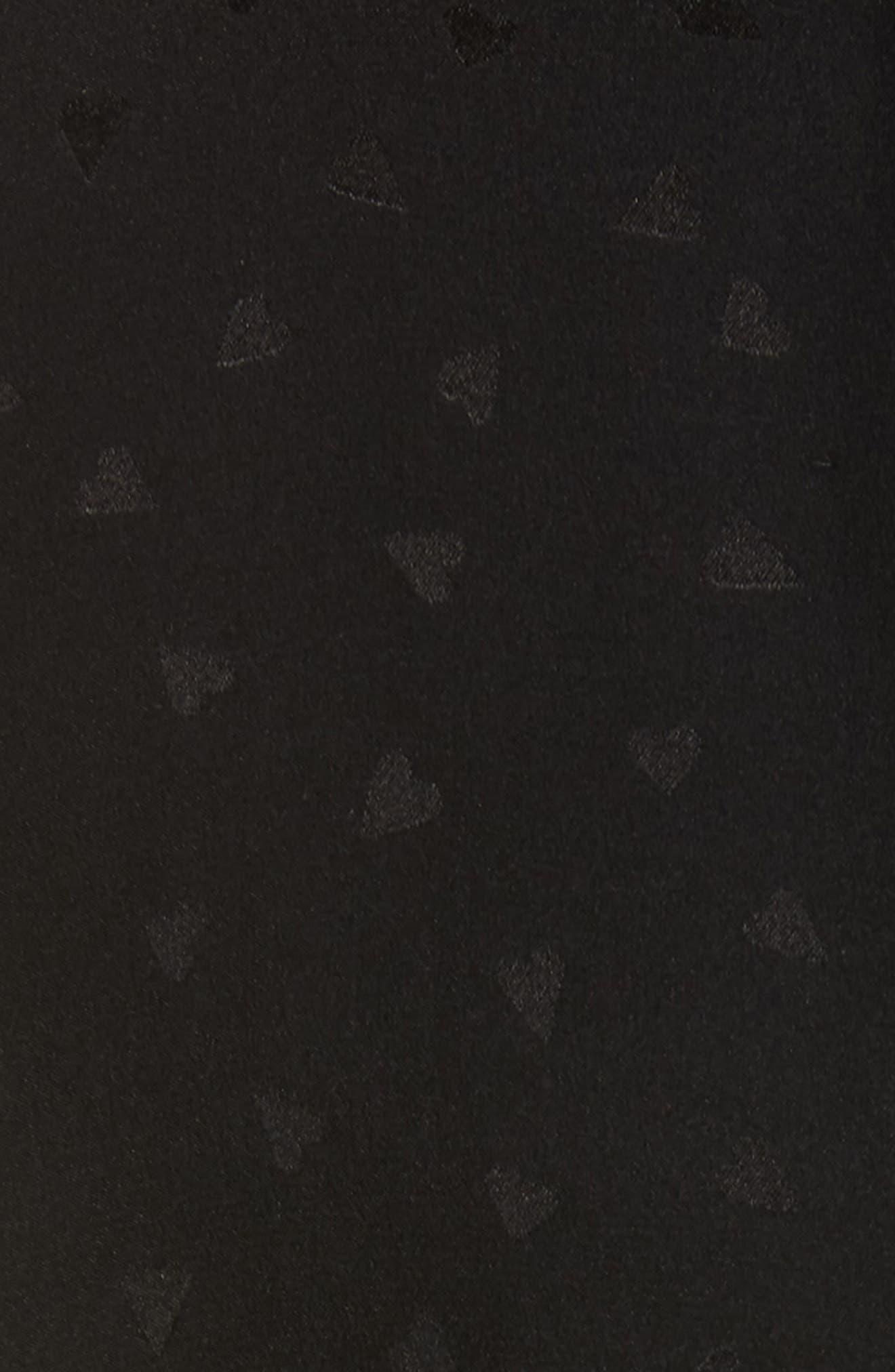REBECCA TAYLOR,                             Silk Jacquard Jumpsuit,                             Alternate thumbnail 5, color,                             BLACK