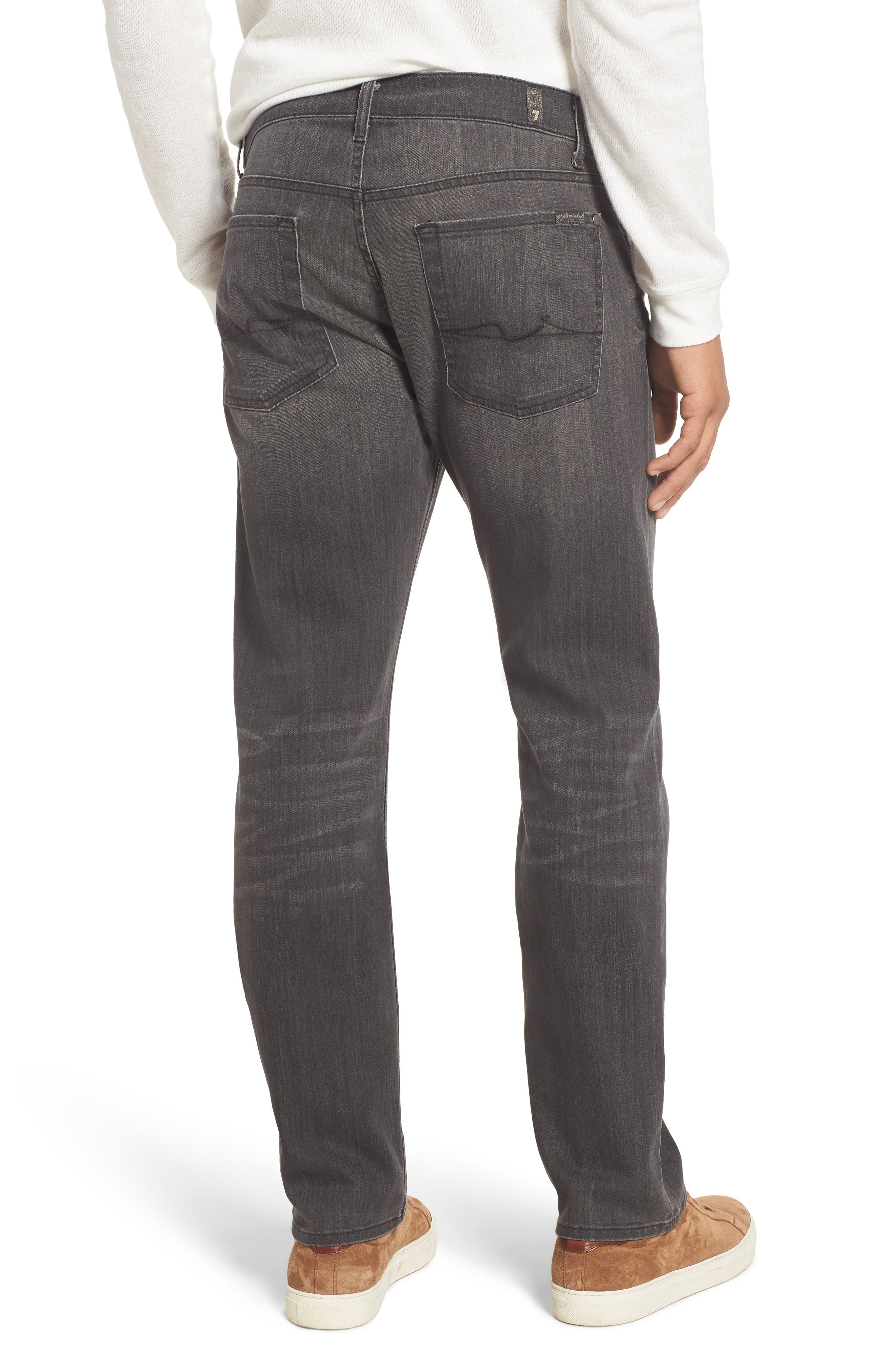 7 FOR ALL MANKIND<SUP>®</SUP>,                             Straight Leg Jeans,                             Alternate thumbnail 2, color,                             001