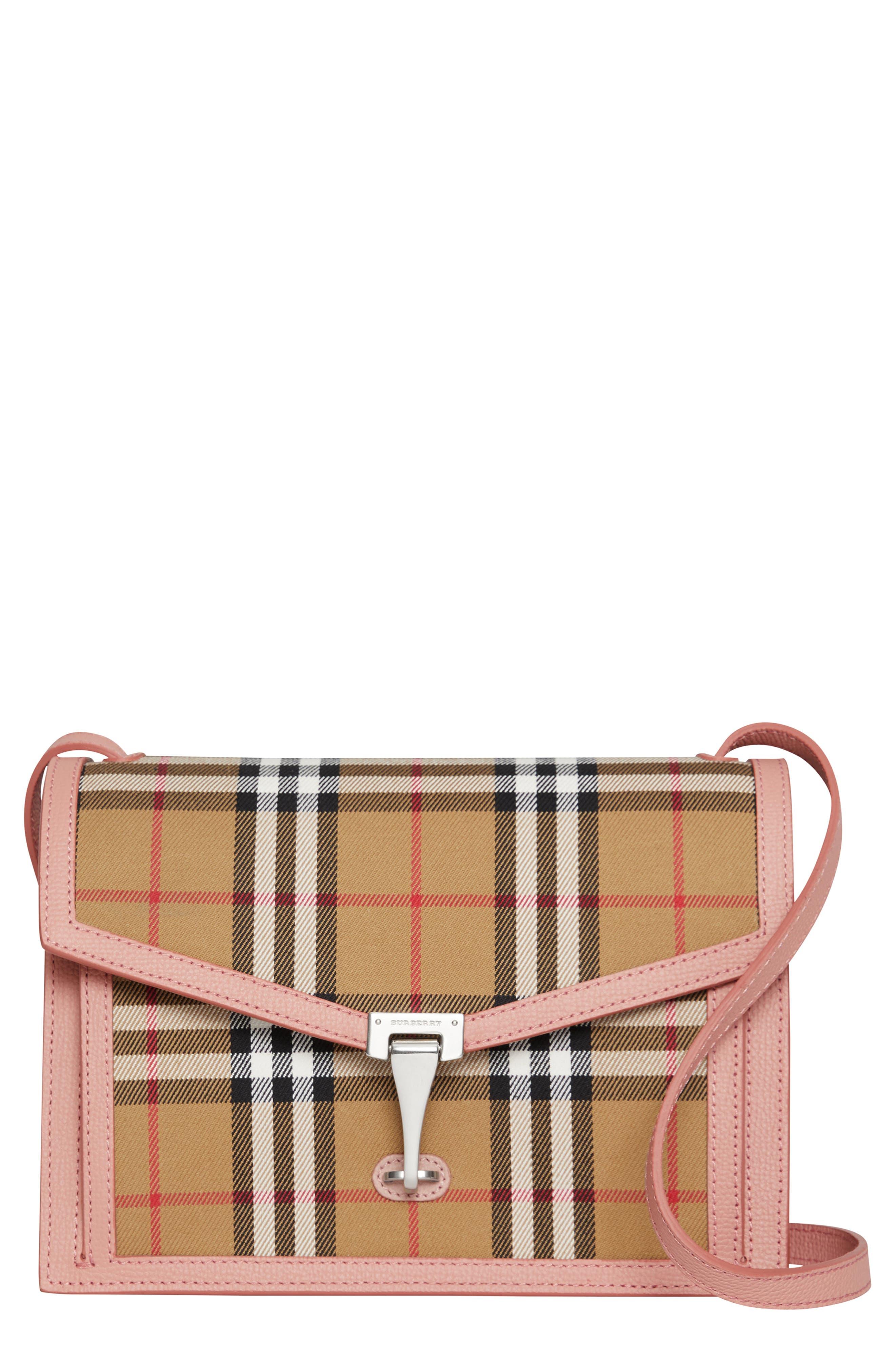 5ac84df22de1 Burberry Small Macken Vintage Check Crossbody Bag - Pink