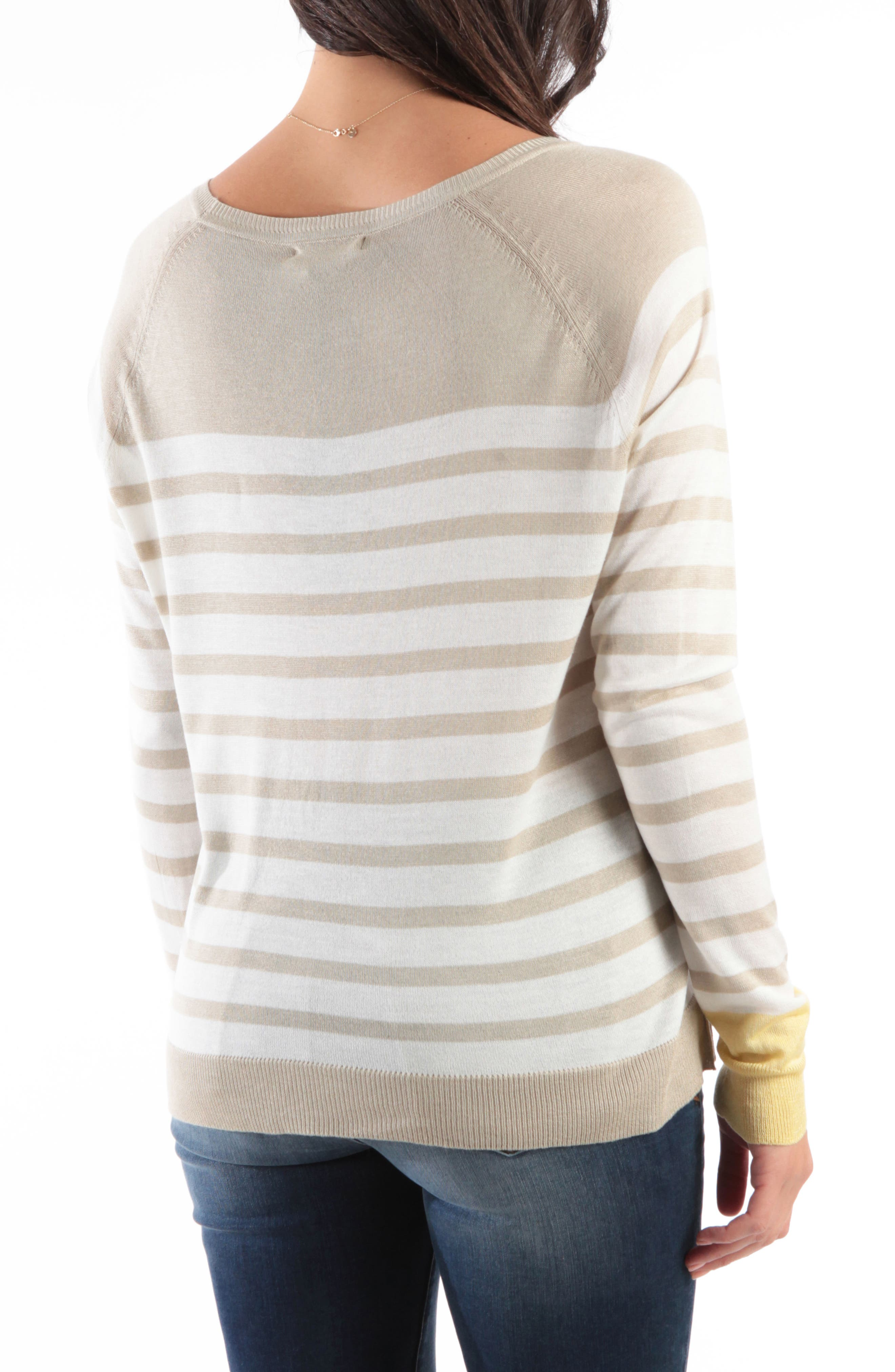 KUT FROM THE KLOTH,                             Bianka Stripe Sweater,                             Alternate thumbnail 2, color,                             OATMEAL/ OFF WHITE