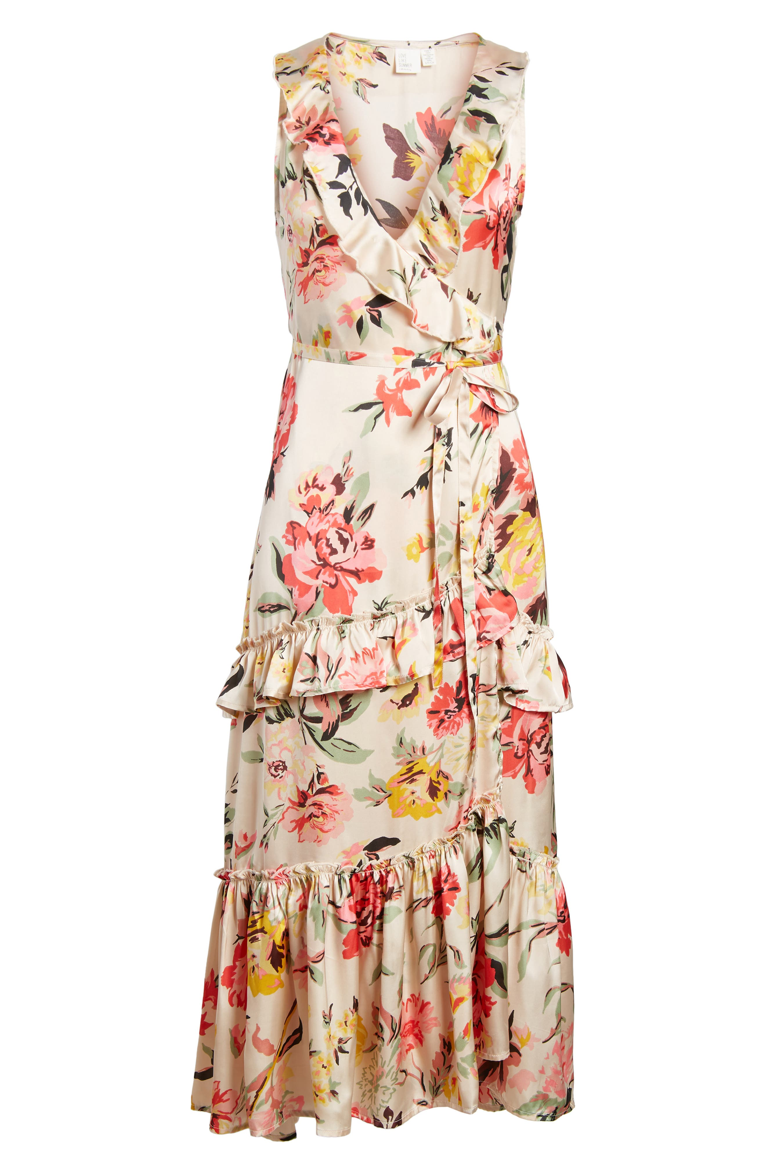 Ruffle Wrap Dress,                             Alternate thumbnail 15, color,