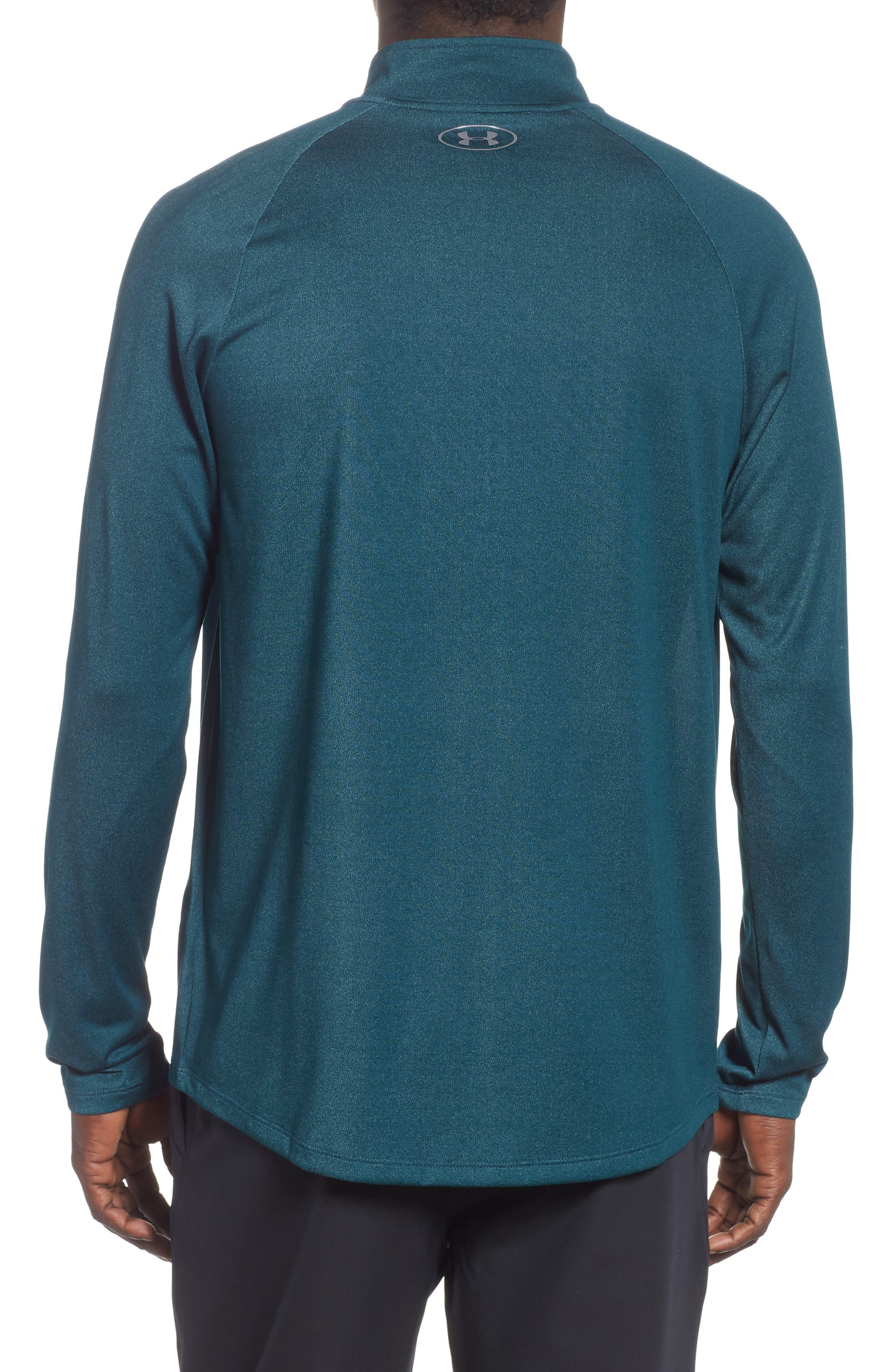 Tech Half Zip Sweatshirt,                             Alternate thumbnail 2, color,                             TEAL
