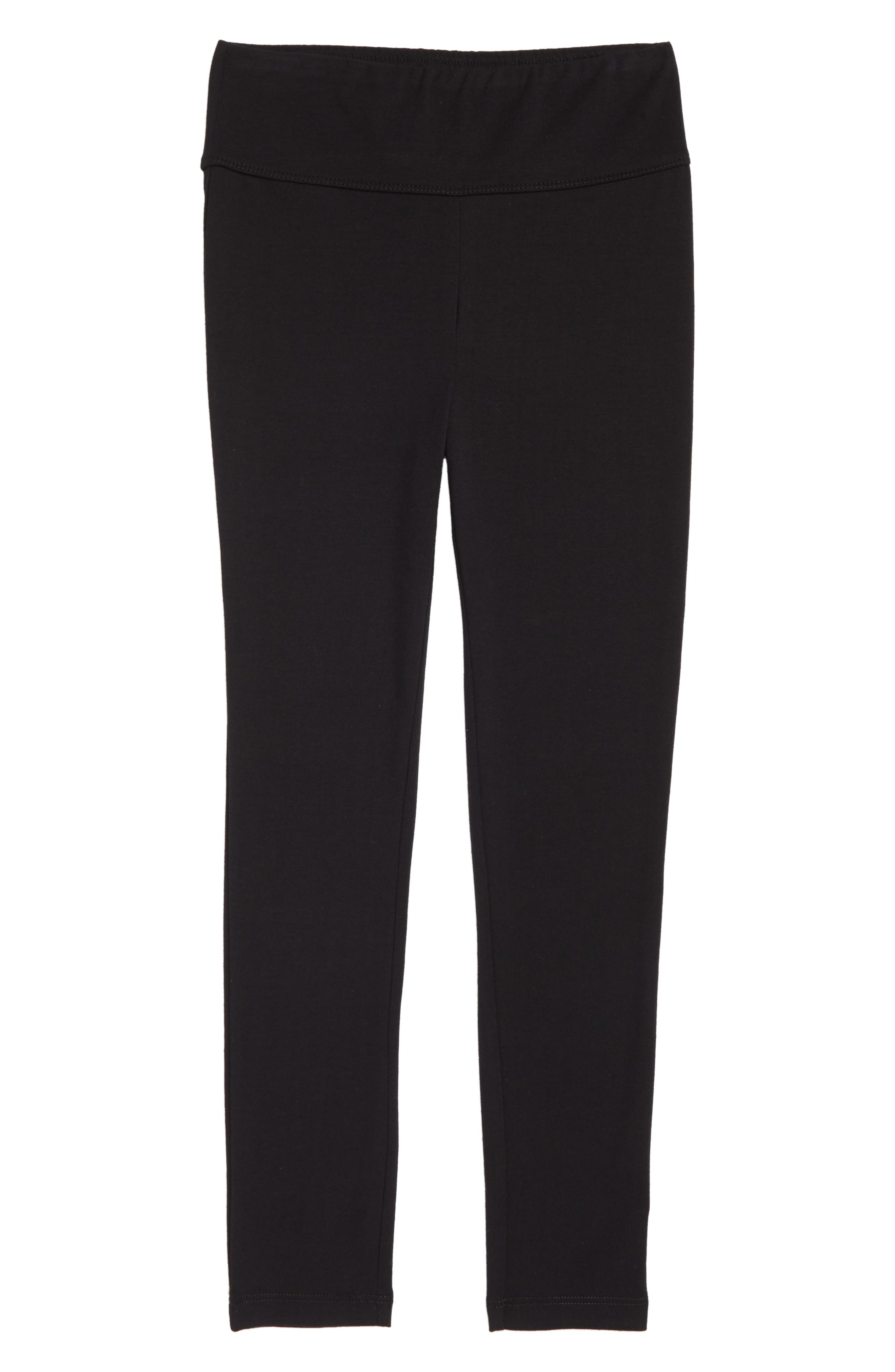High Waist Leggings,                             Main thumbnail 1, color,                             BLACK