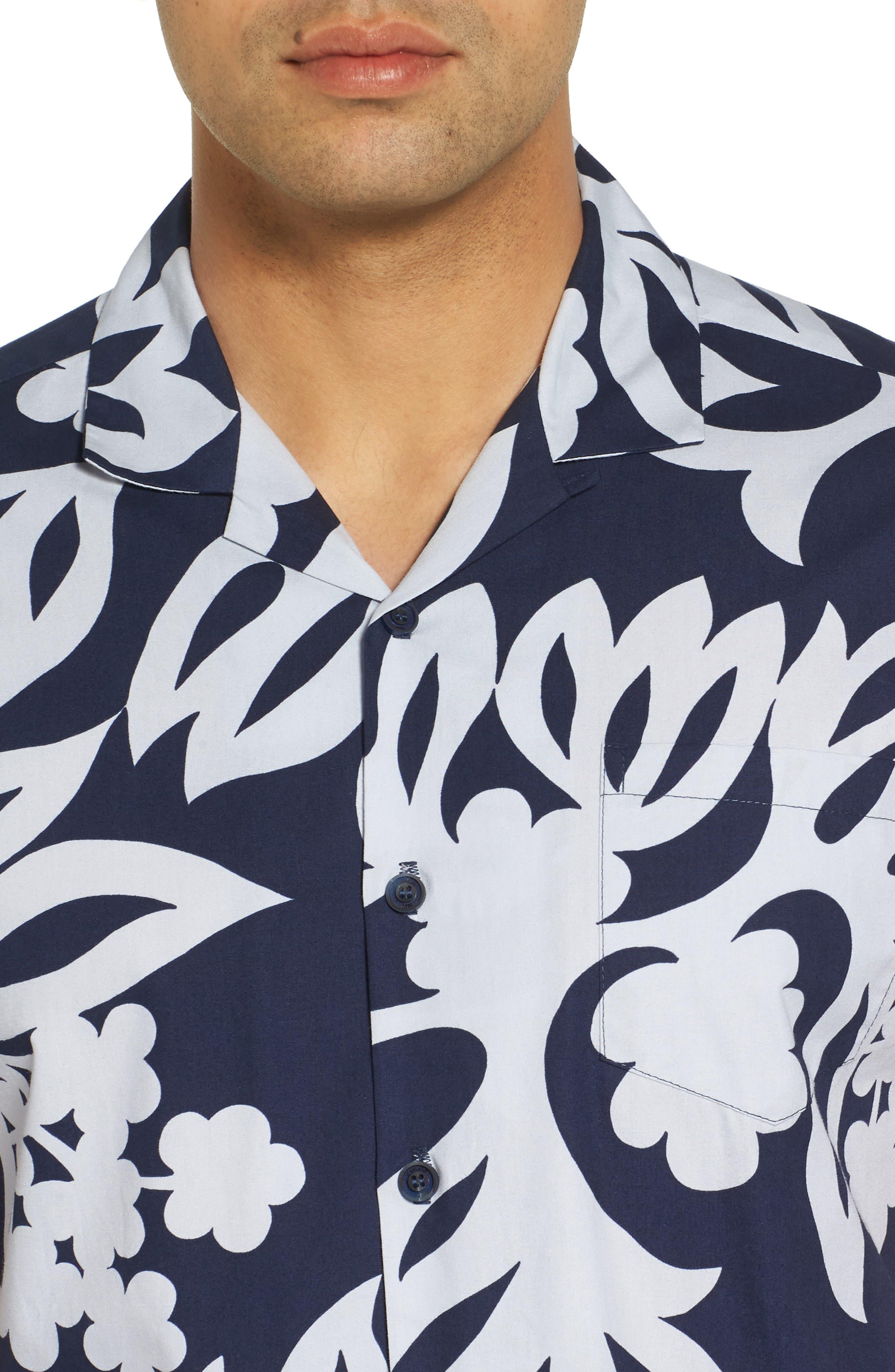 Simple Regular Fit Camp Shirt,                             Alternate thumbnail 8, color,