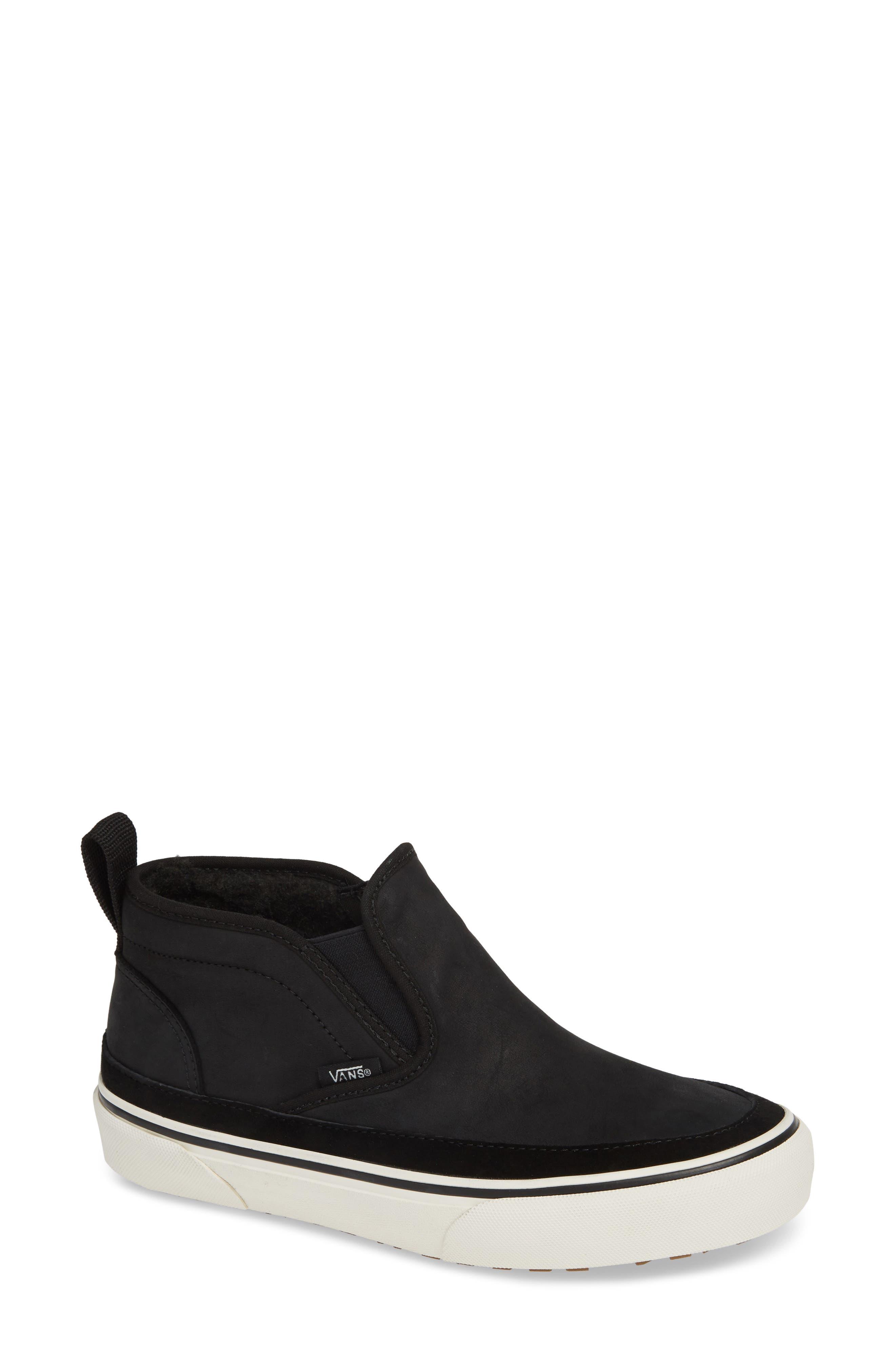 UA Authentic MTE Slip-On Sneaker,                             Main thumbnail 1, color,                             BLACK/ MARSHMALLOW