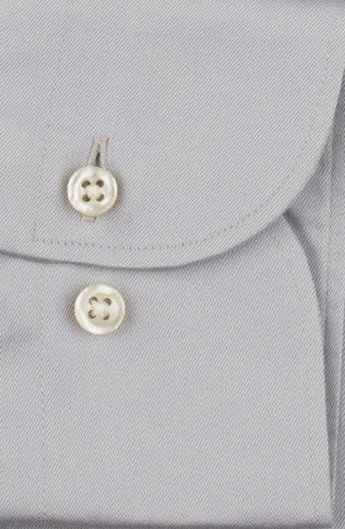 Regular Fit Solid Dress Shirt,                             Alternate thumbnail 6, color,                             020