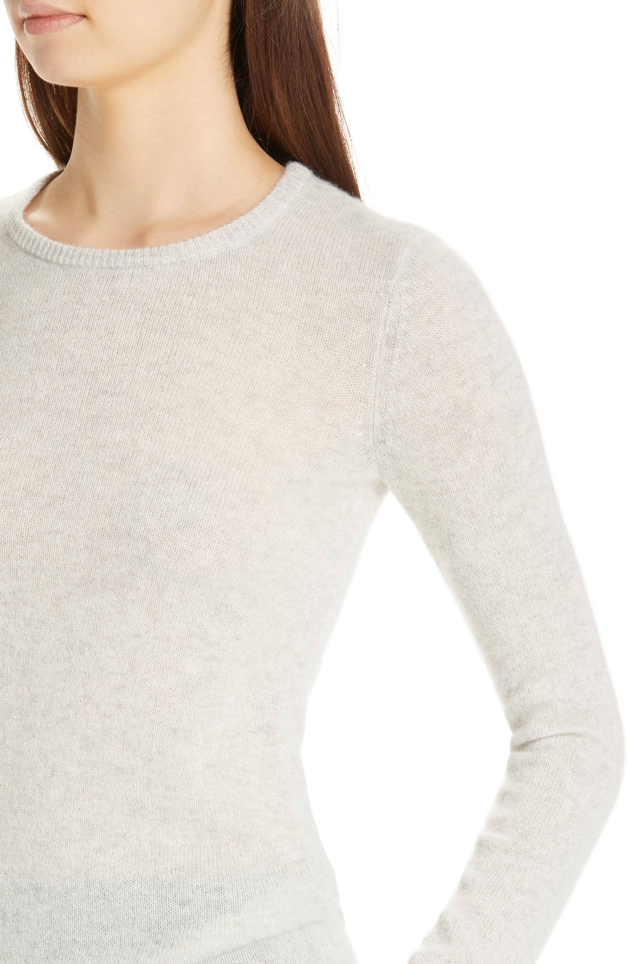Cashmere Sweater,                             Alternate thumbnail 4, color,                             BLIZZARD