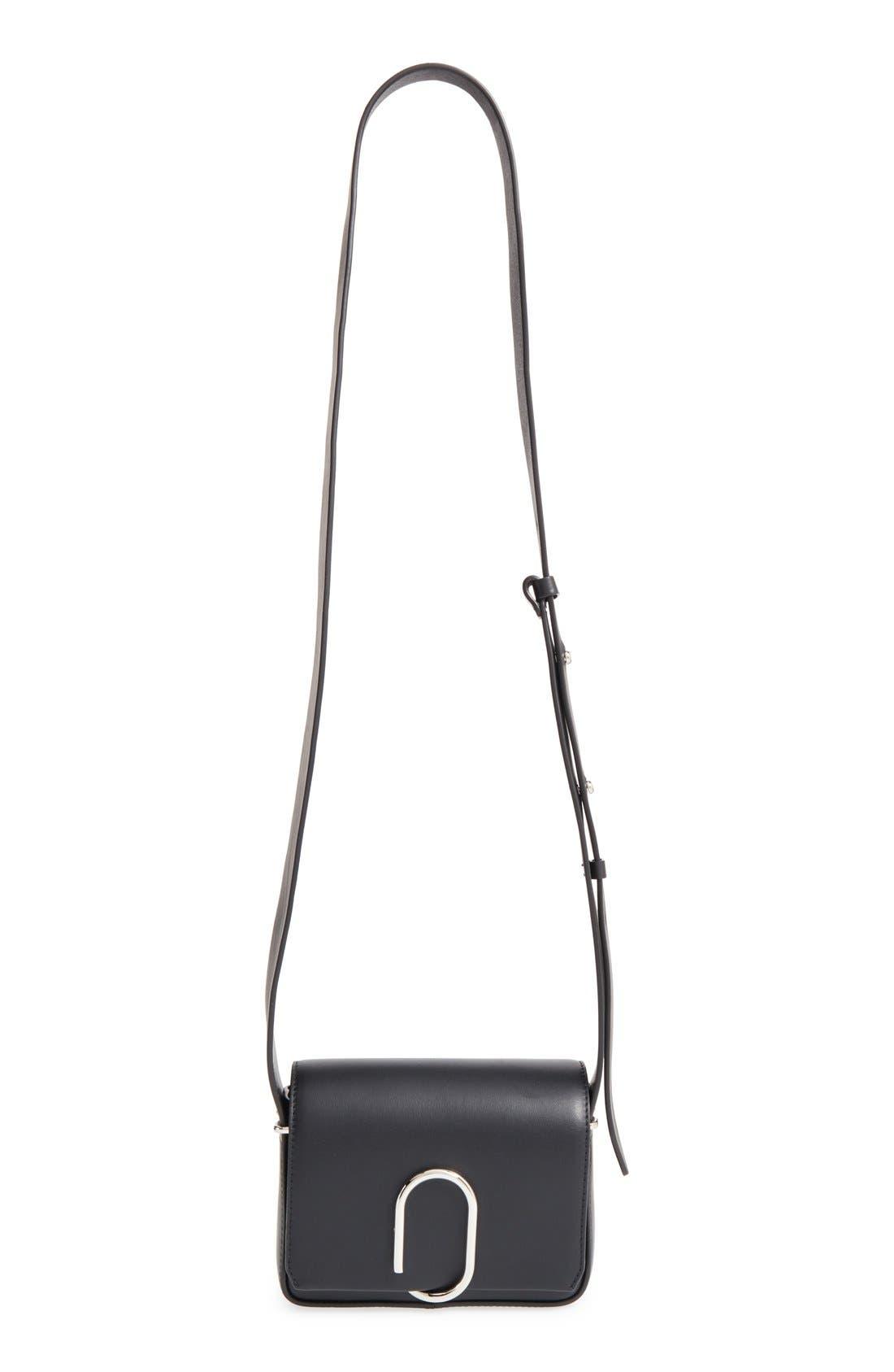 'Mini Alix' Leather Shoulder Bag,                             Alternate thumbnail 4, color,